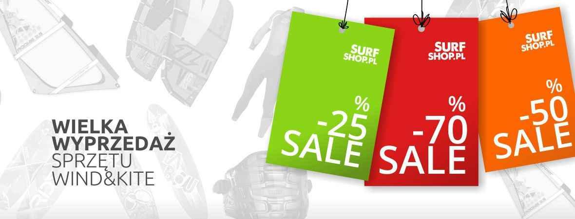 Wyprzedaż sprzętu windsurfingowego, kitesurfingowego, pianek, trapezów...! Zniżki do -60%!