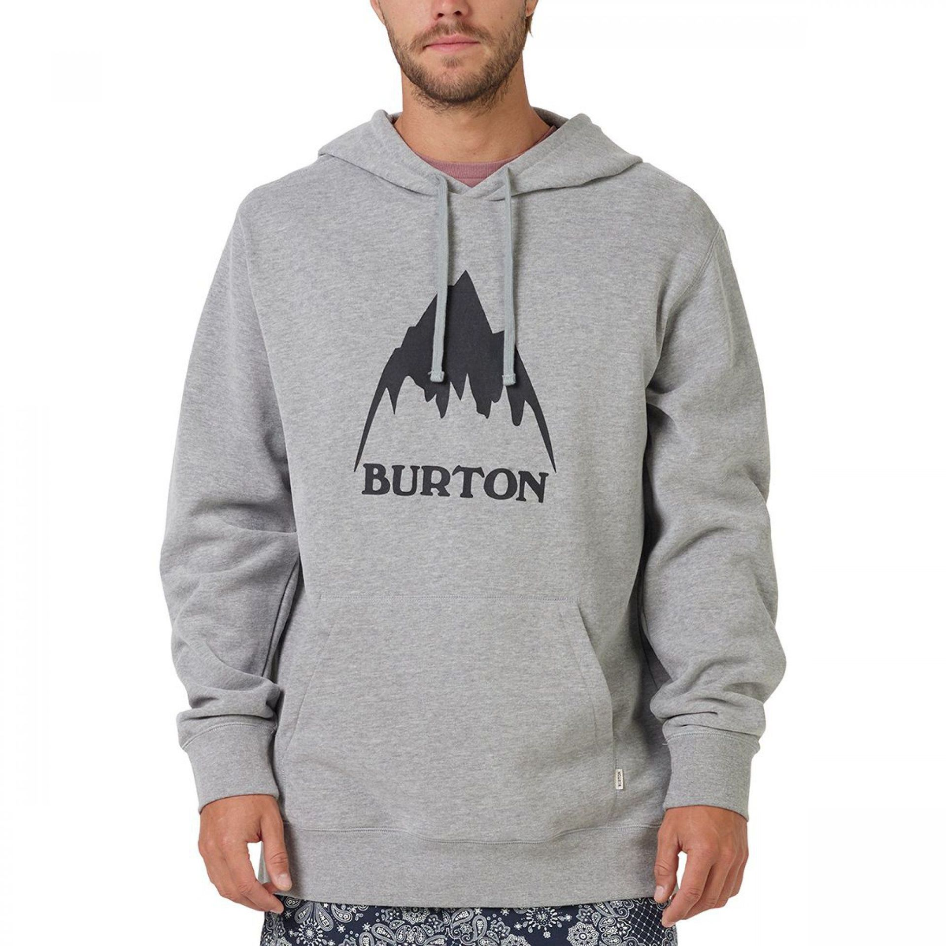 BLUZA BURTON CLASSIC MOUNTAIN PULLOVER GREY HEATHER 2