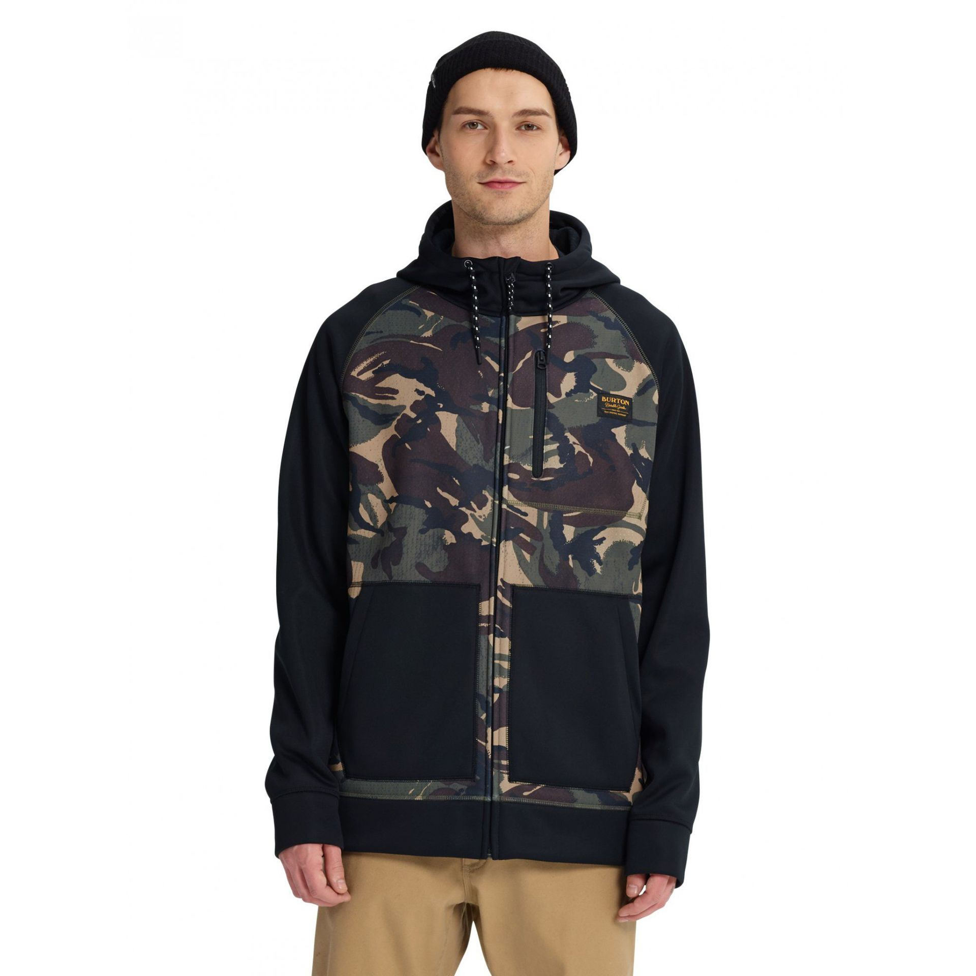BLUZA BURTON CROWN BONDED FZ SEERSUCKER CAMO|TRUE BLACK 165381-300 1