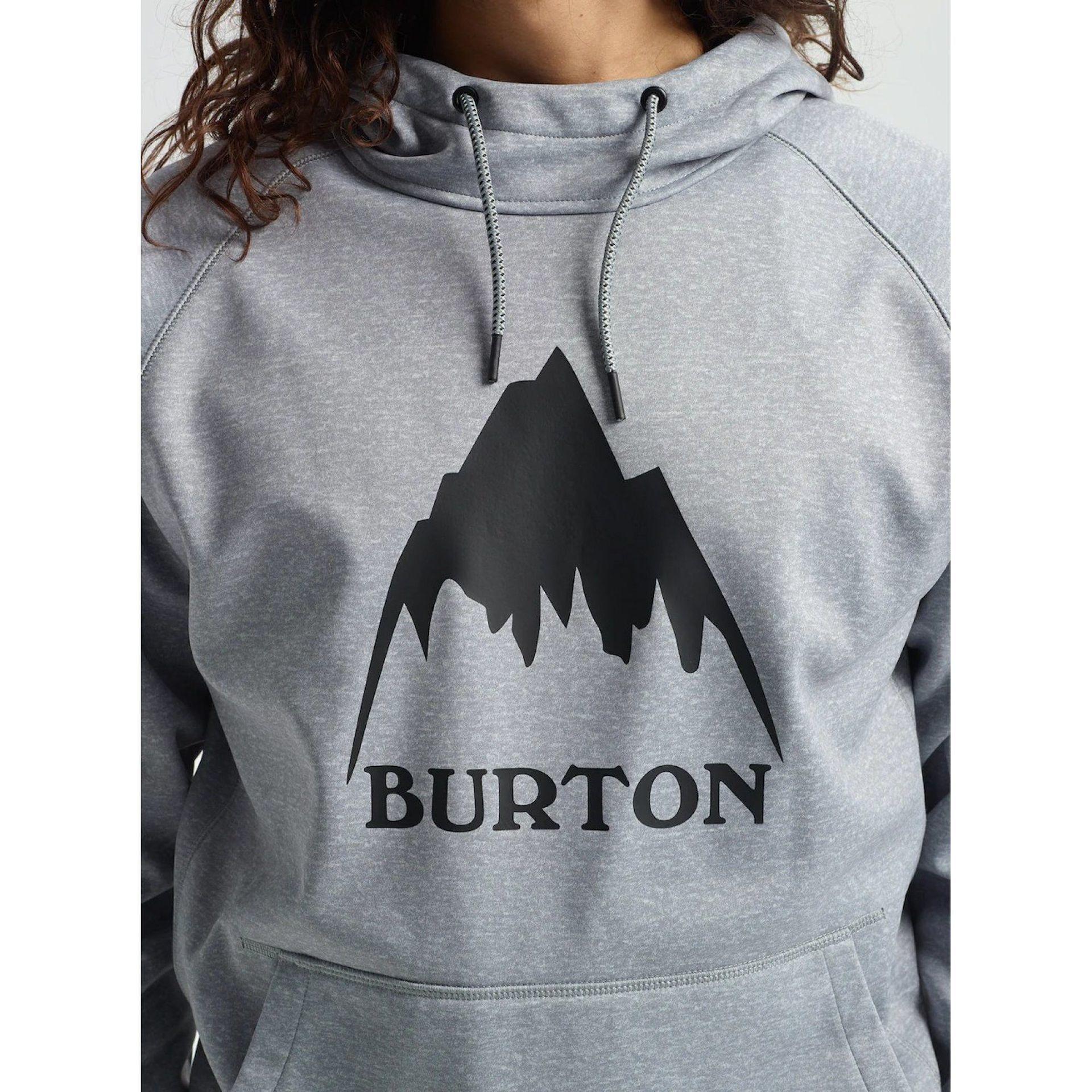 BLUZA BURTON CROWN BONDED PULLOVER GRAY HEATHER 108911 020 3