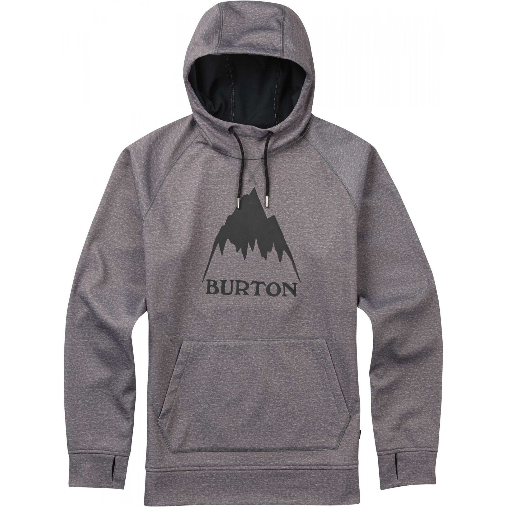 BLUZA BURTON CROWN BONDED PULLOVER HOODIE MONUMENT HEATHER