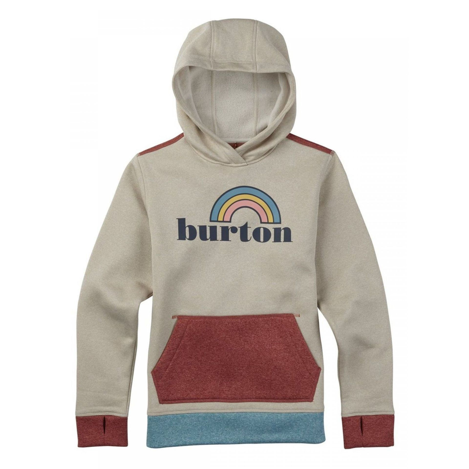 BLUZA BURTON GIRLS OAK PULLOVER CANVAS HEATHER