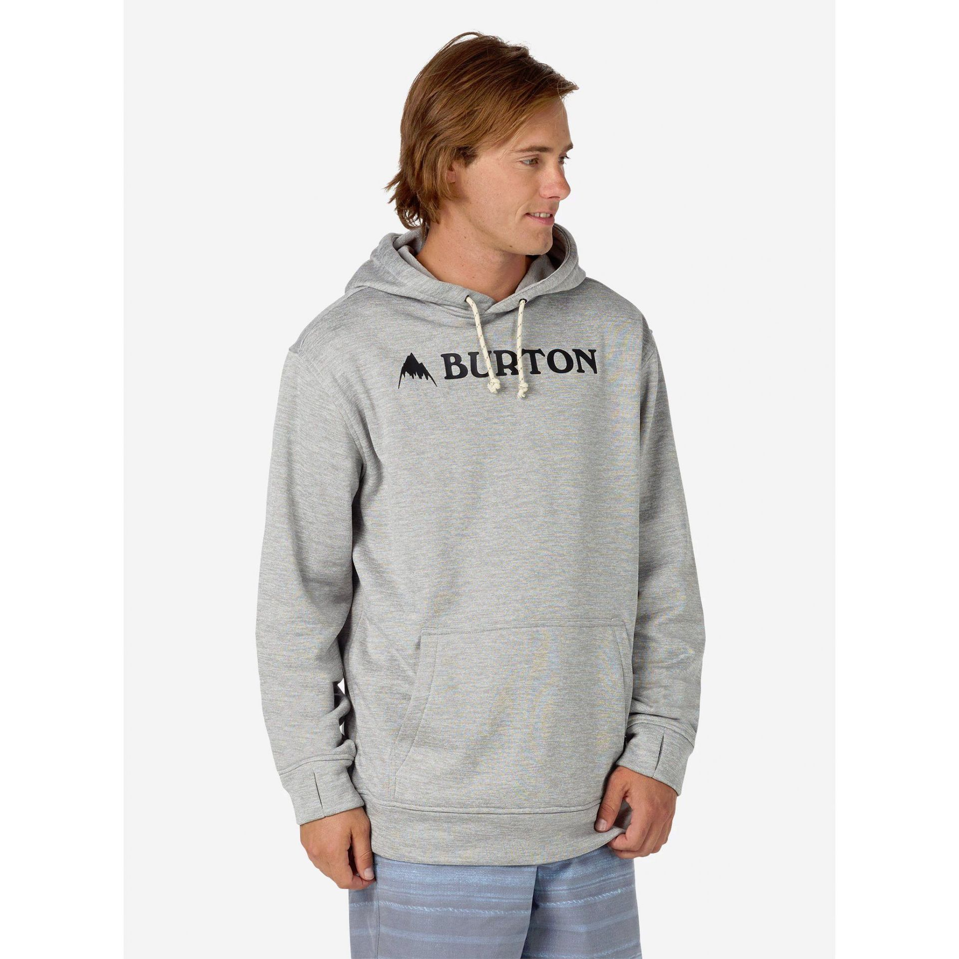 BLUZA BURTON OAK PULLOVER HOODIE MONUMENT HEATHER 1
