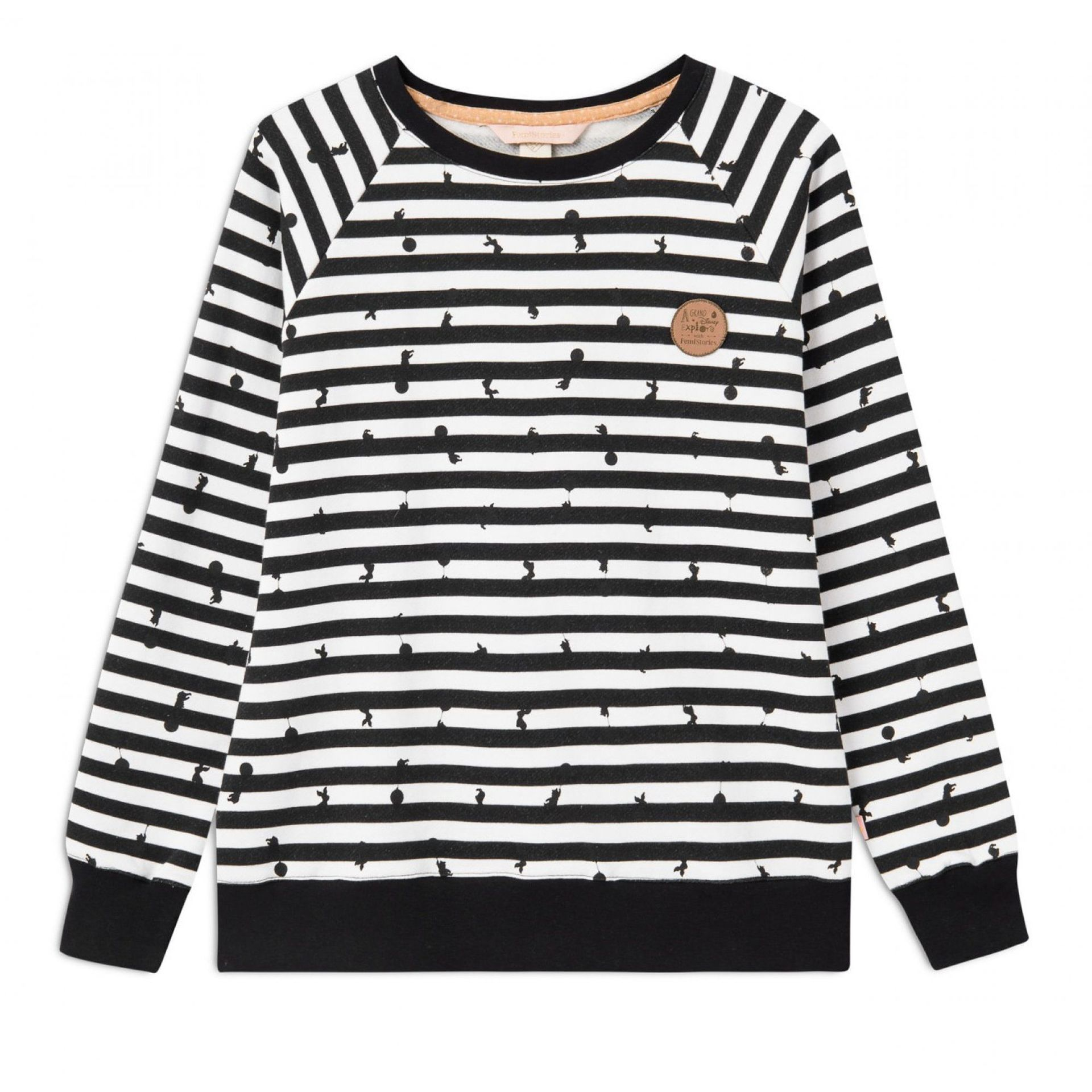 BLUZA FEMI STORIES MINIME BLACK STRIPE