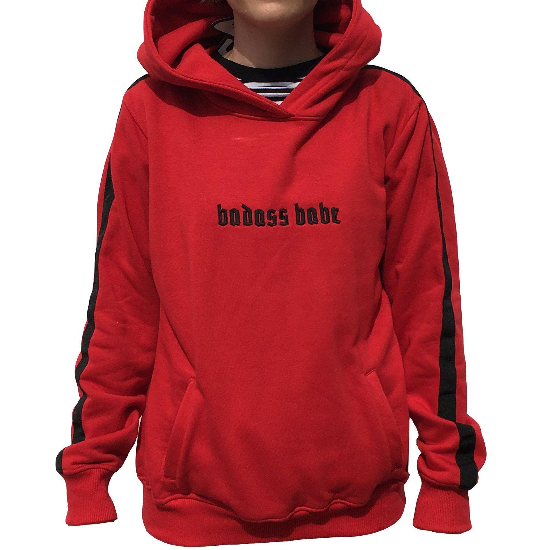 BLUZA JUNGMOB BADASS BABE RED 1