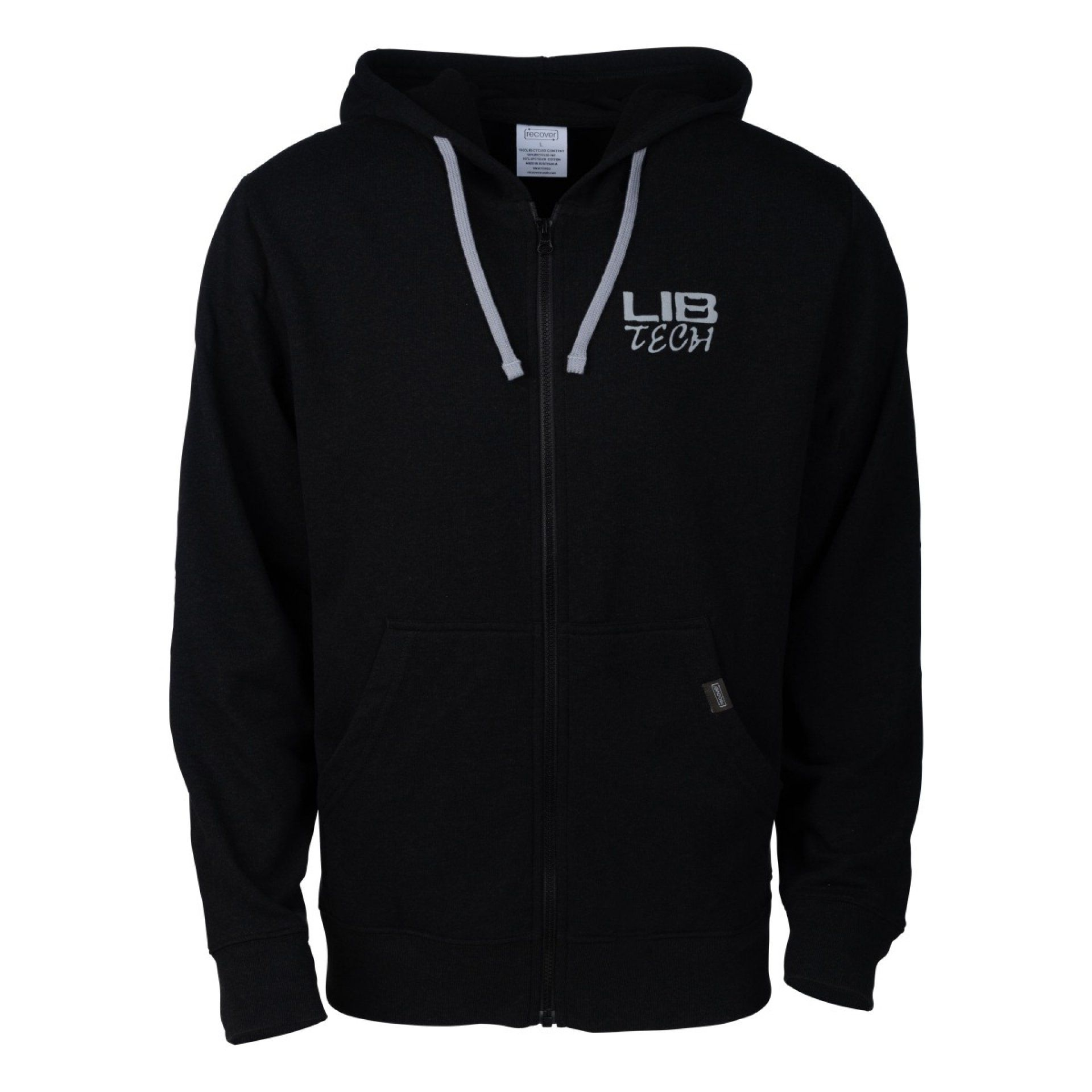 BLUZA LIB TECH LOGO ECO HOODED ZIP BLACK
