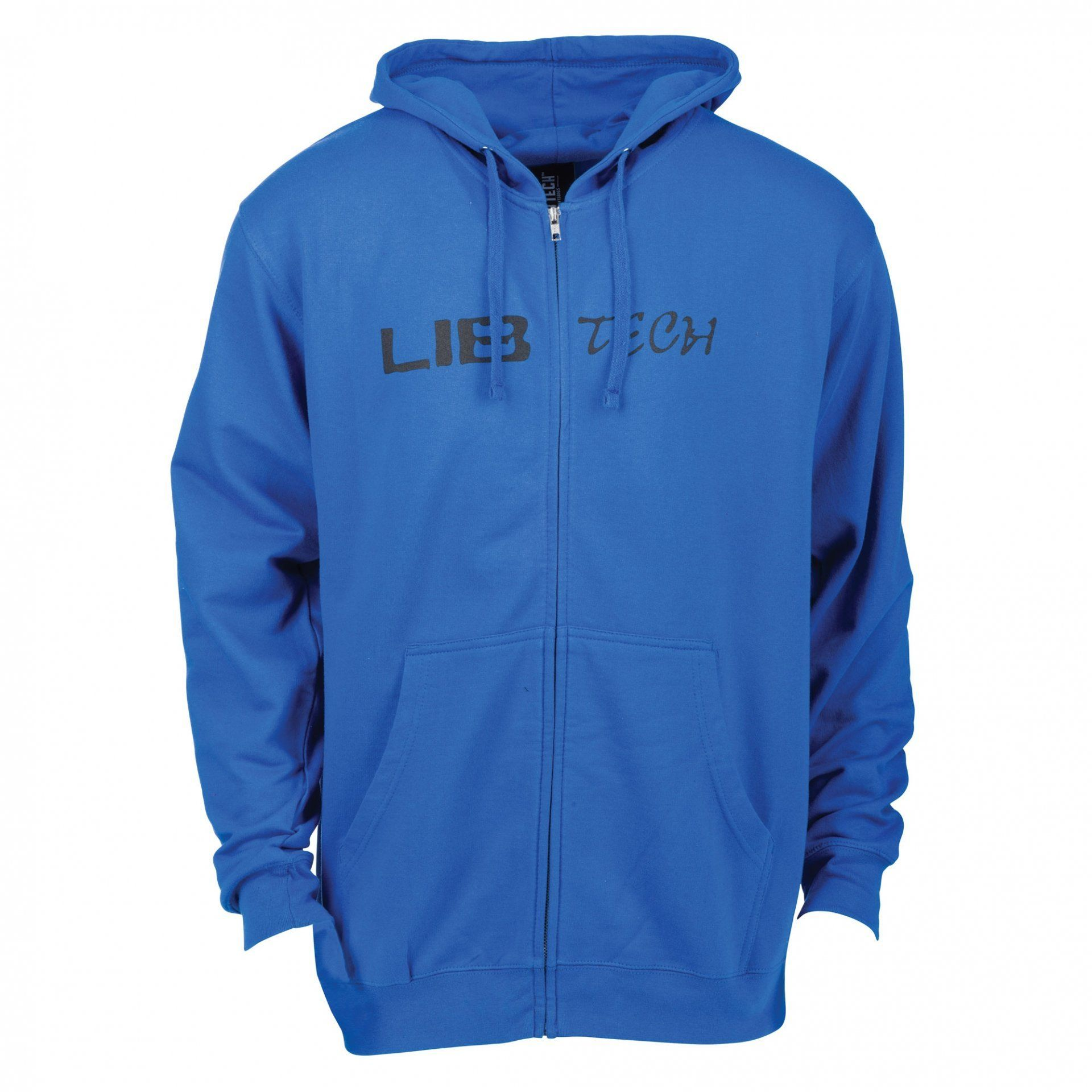 BLUZA LIB TECH LOGO HOODED ZIP ROYAL BLUE