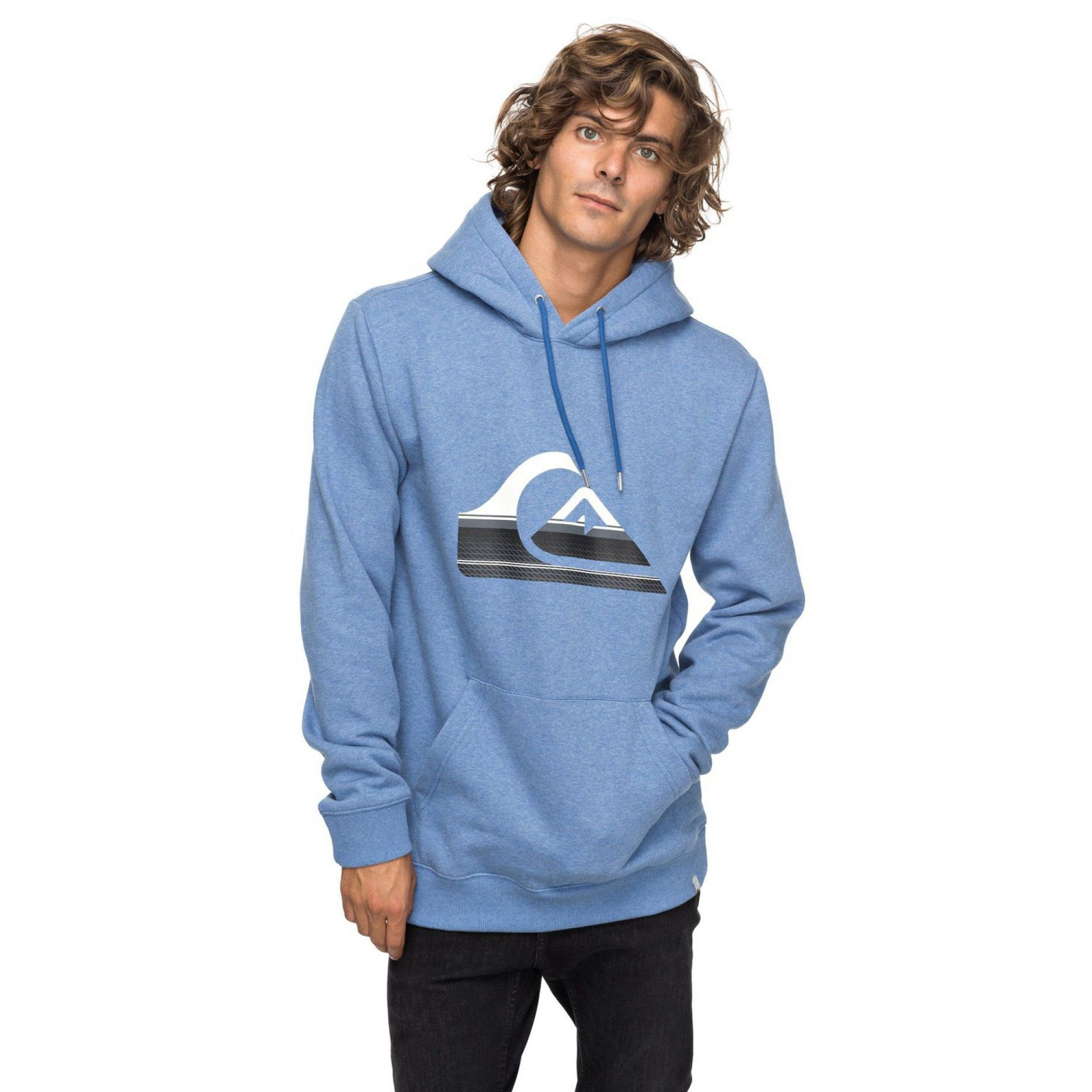 BLUZA QUIKSILVER BIG LOGO HOOD  BRIGHT COBALT HEATHER
