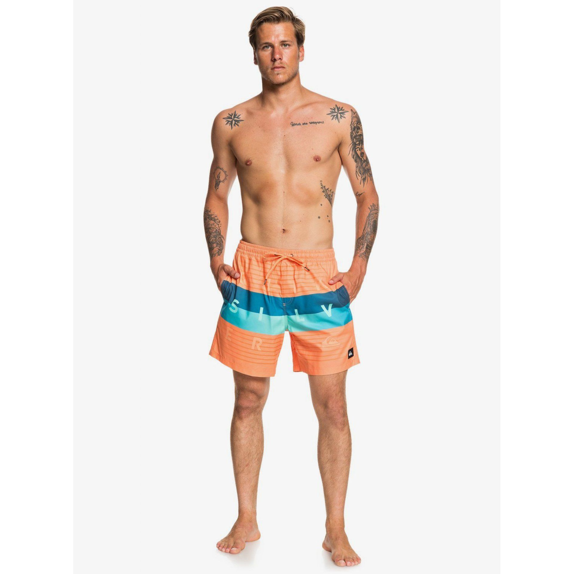 BOARDSHORTY QUIKSILVER WORD BLOCK VOLLEY EQYJV03550 NJG6 NA MODELU
