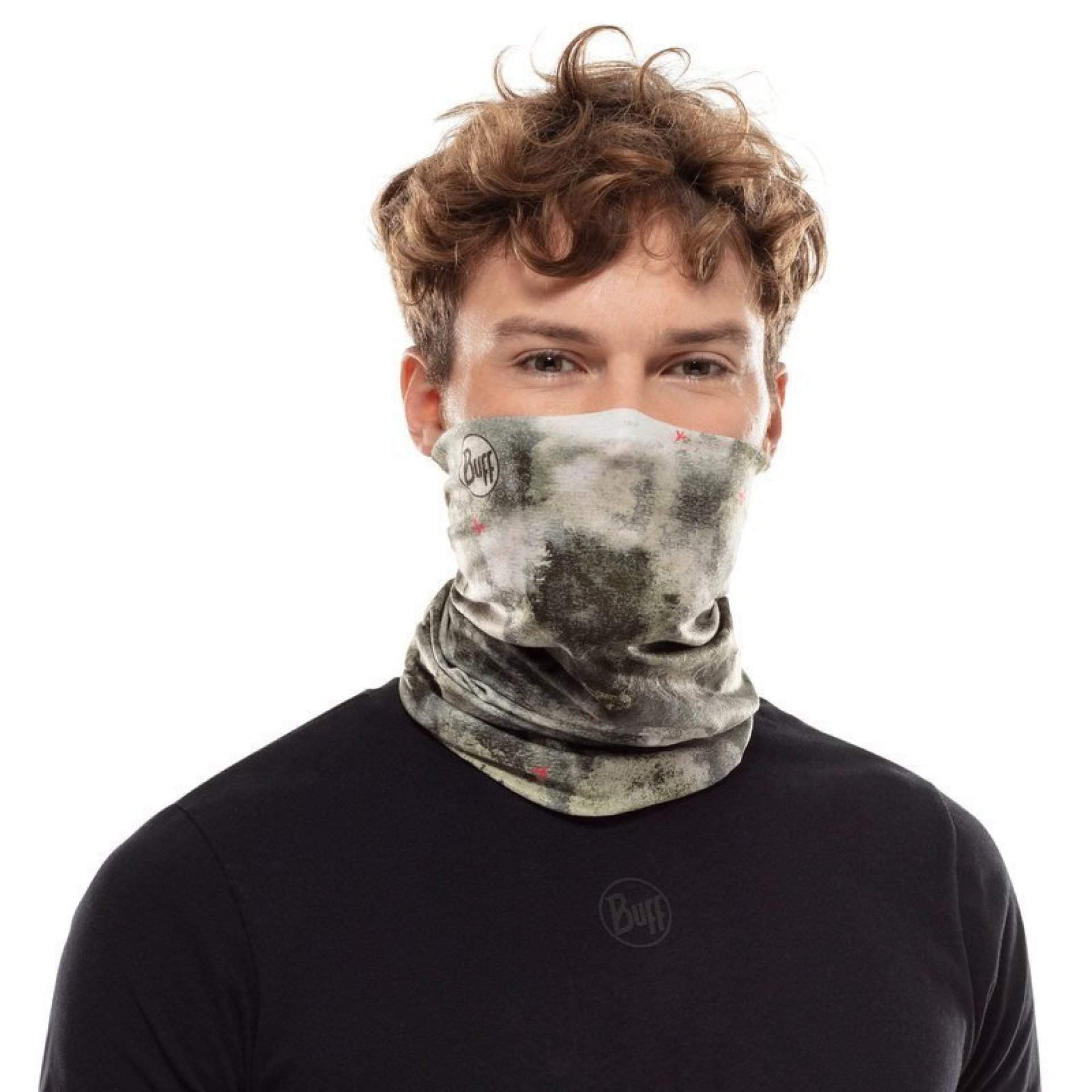 CHUSTA BUFF COOLNET UV+ INSECT SHIELD FUTURE FOREST GREEN NA TWARZY