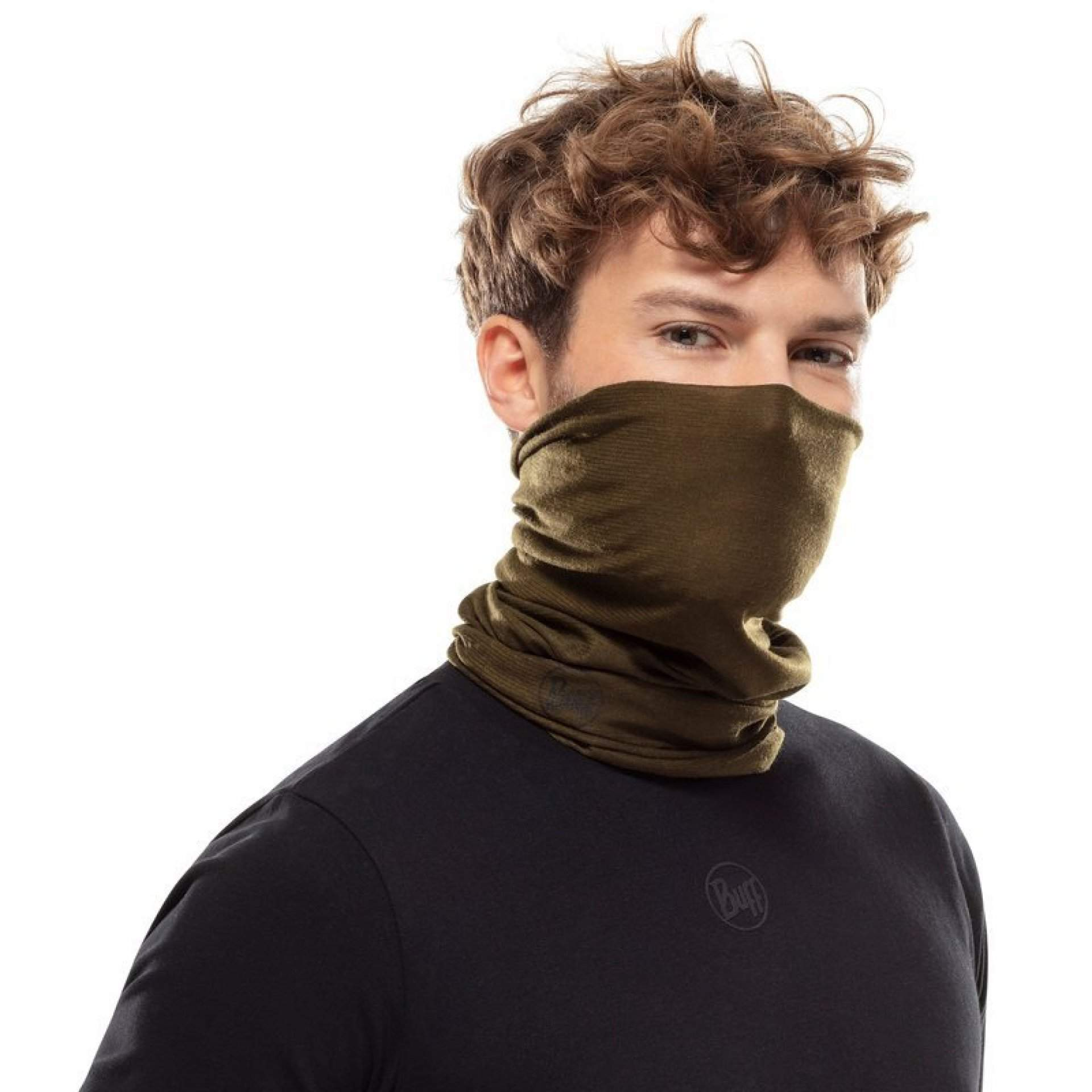 CHUSTA BUFF COOLNET UV+ INSECT SHIELD SOLID MILITARY NA TWARZY