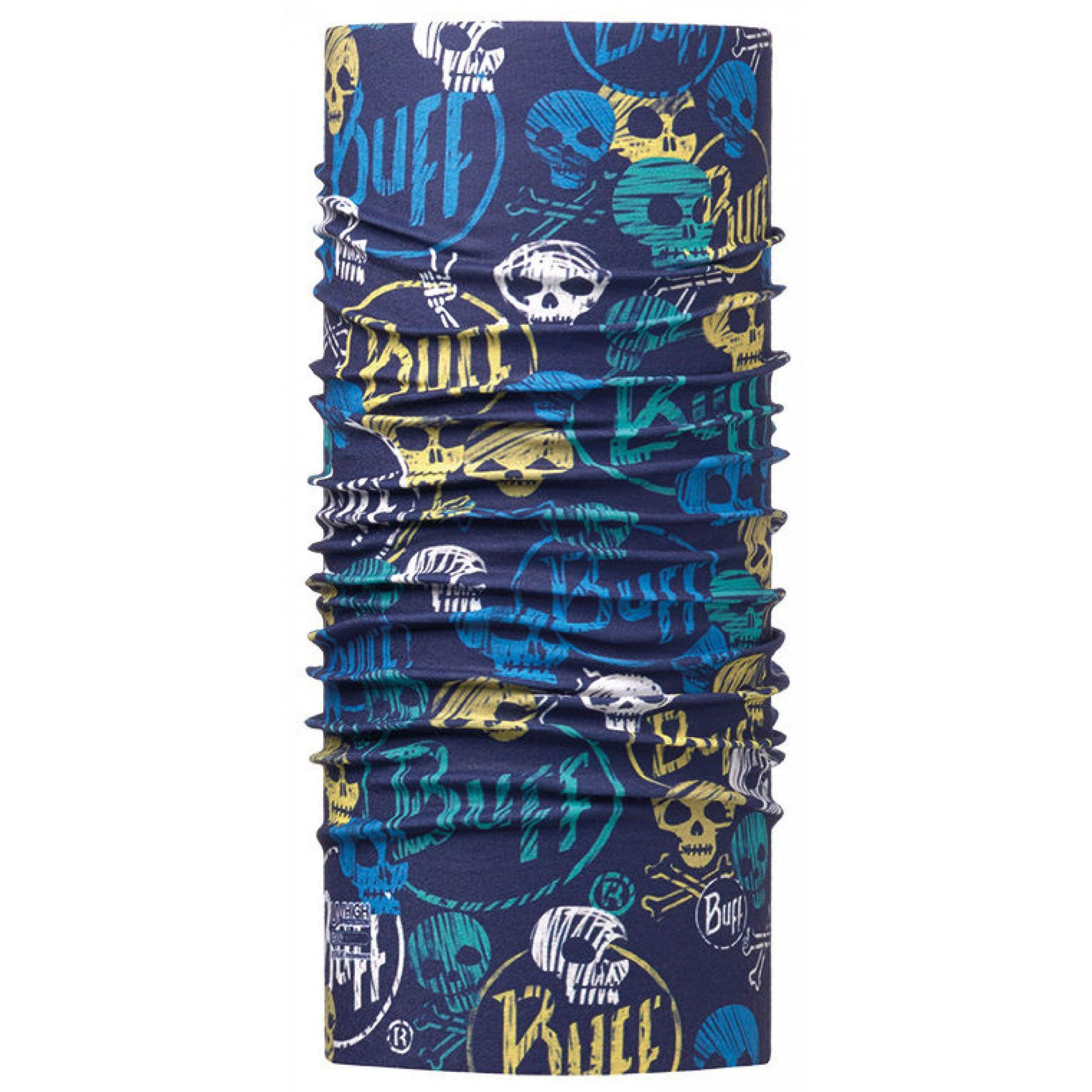 CHUSTA BUFF HIGH UV PROTECTION JUNIOR FUNNY SKULLS DARK NAVY