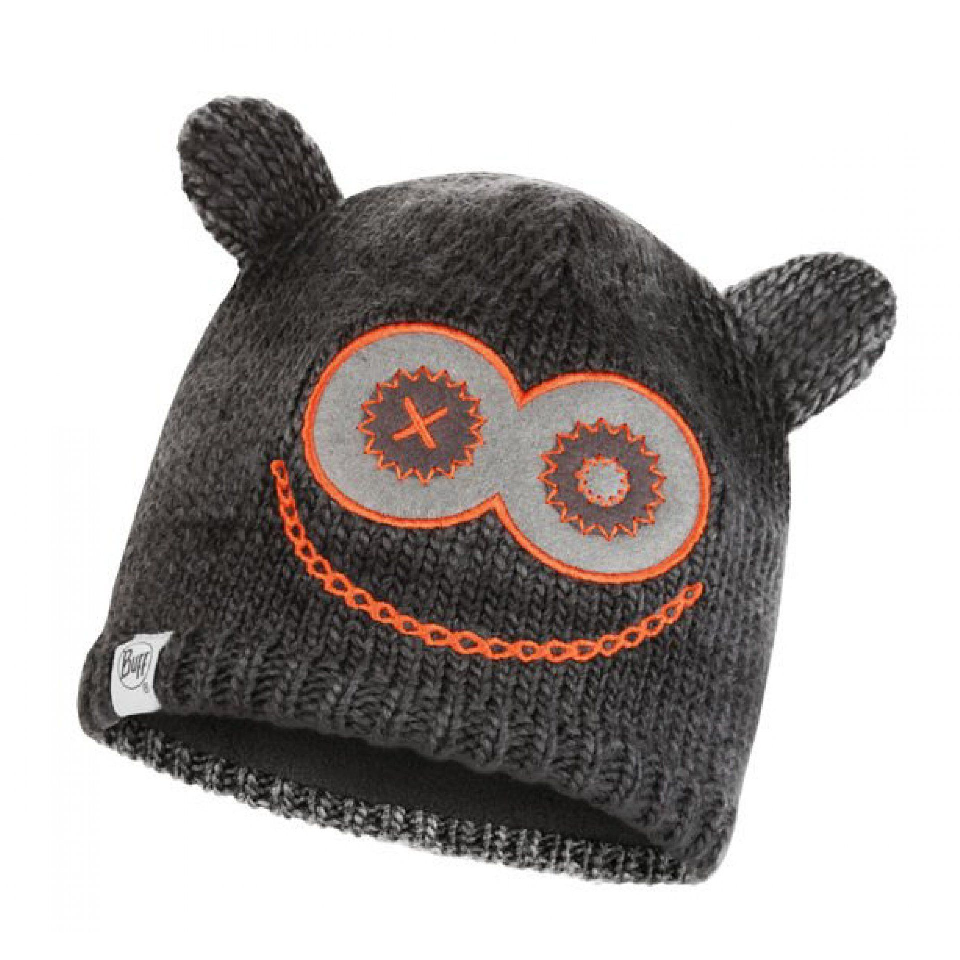CZAPKA BUFF CHILD KNITTED & FLEECE HAT MONSTER BLACK PRZÓD