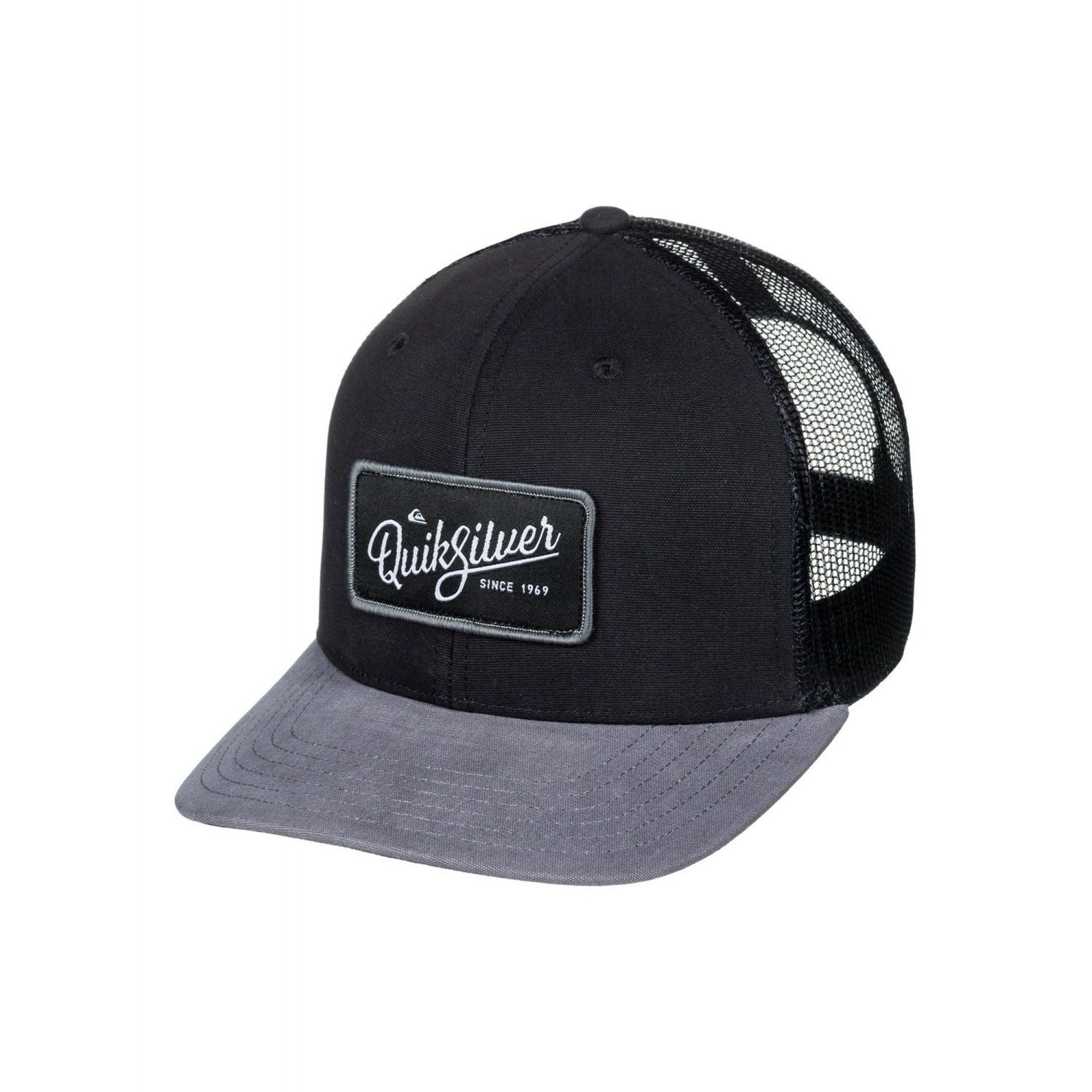 CZAPKA DASZKIEM QUIKSILVER BLOCKED OUT TRUCKER BLACK