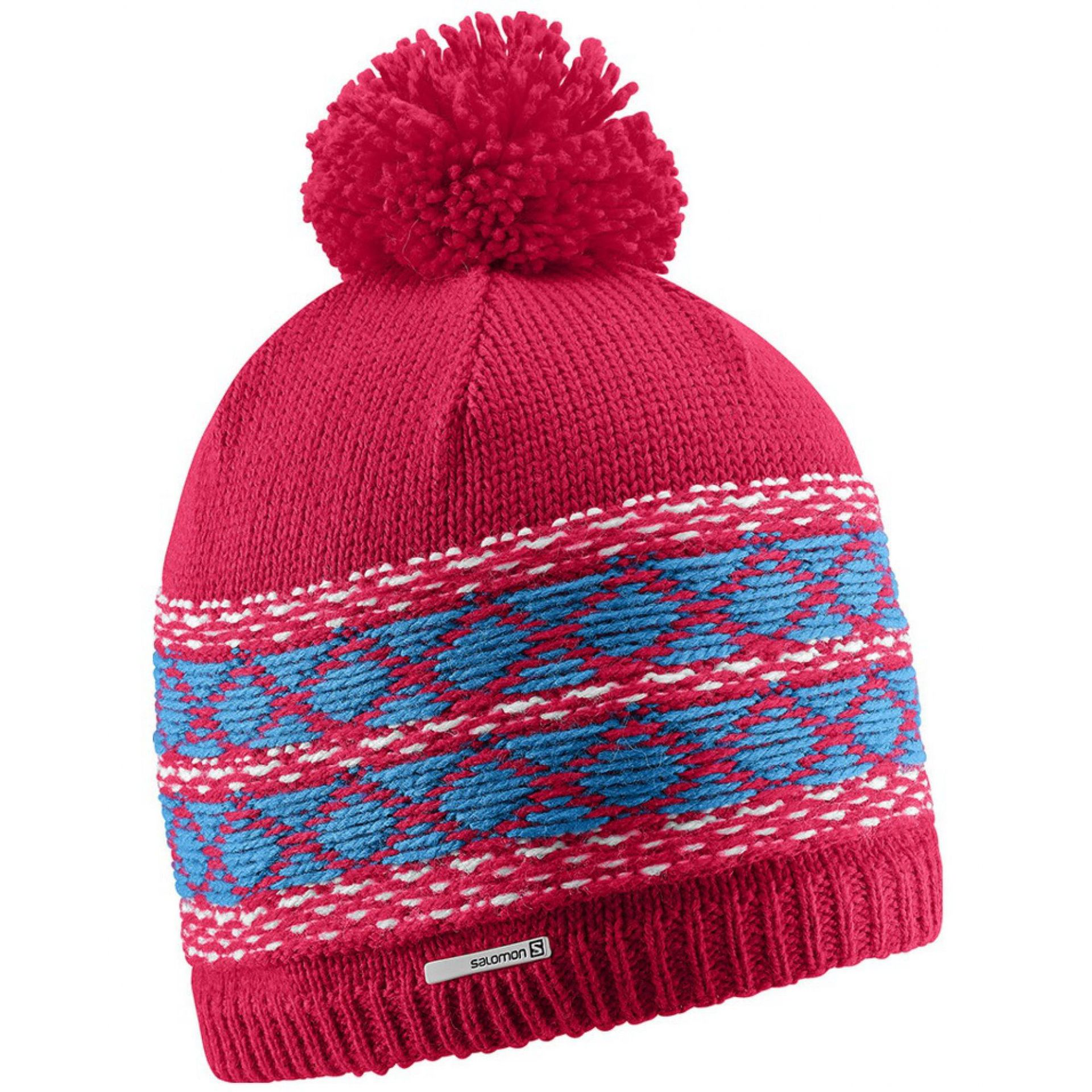 CZAPKA SALOMON KUBA BEANIE LOTUS PINK WHITE METHYL BLUE