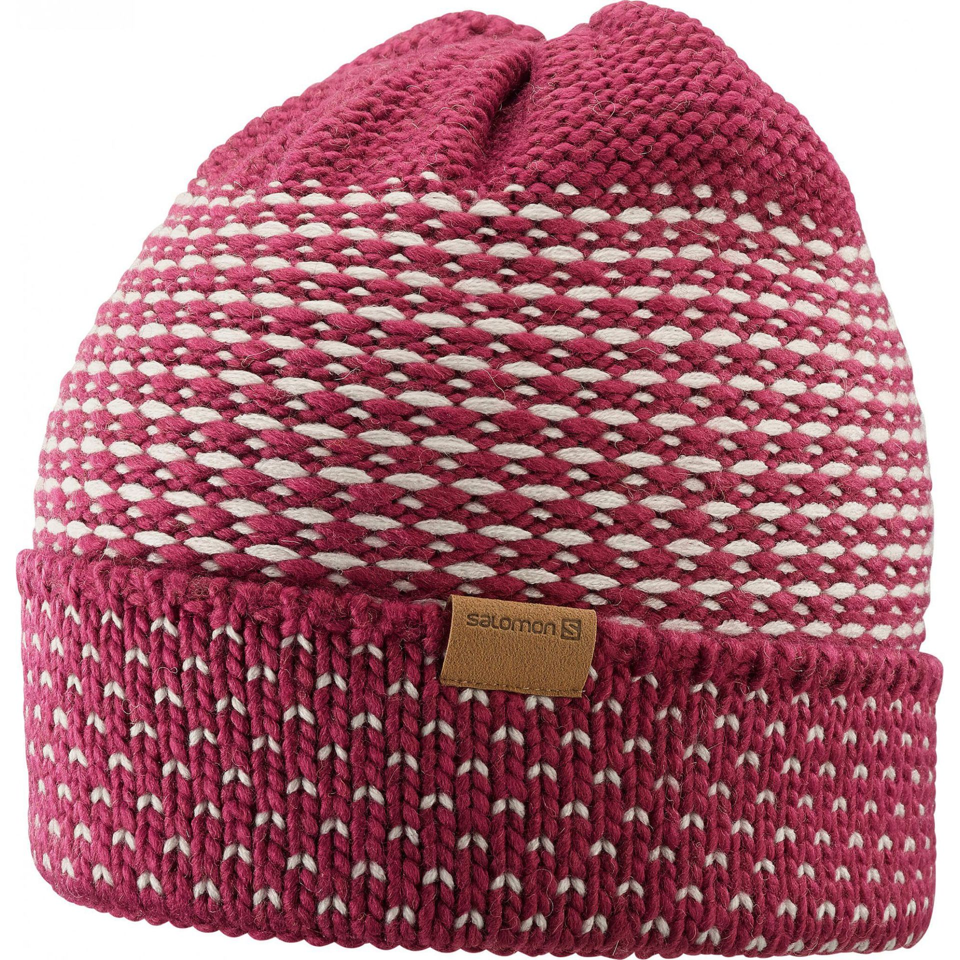 CZAPKA SALOMON LAURA BEANIE BEET RED 403564