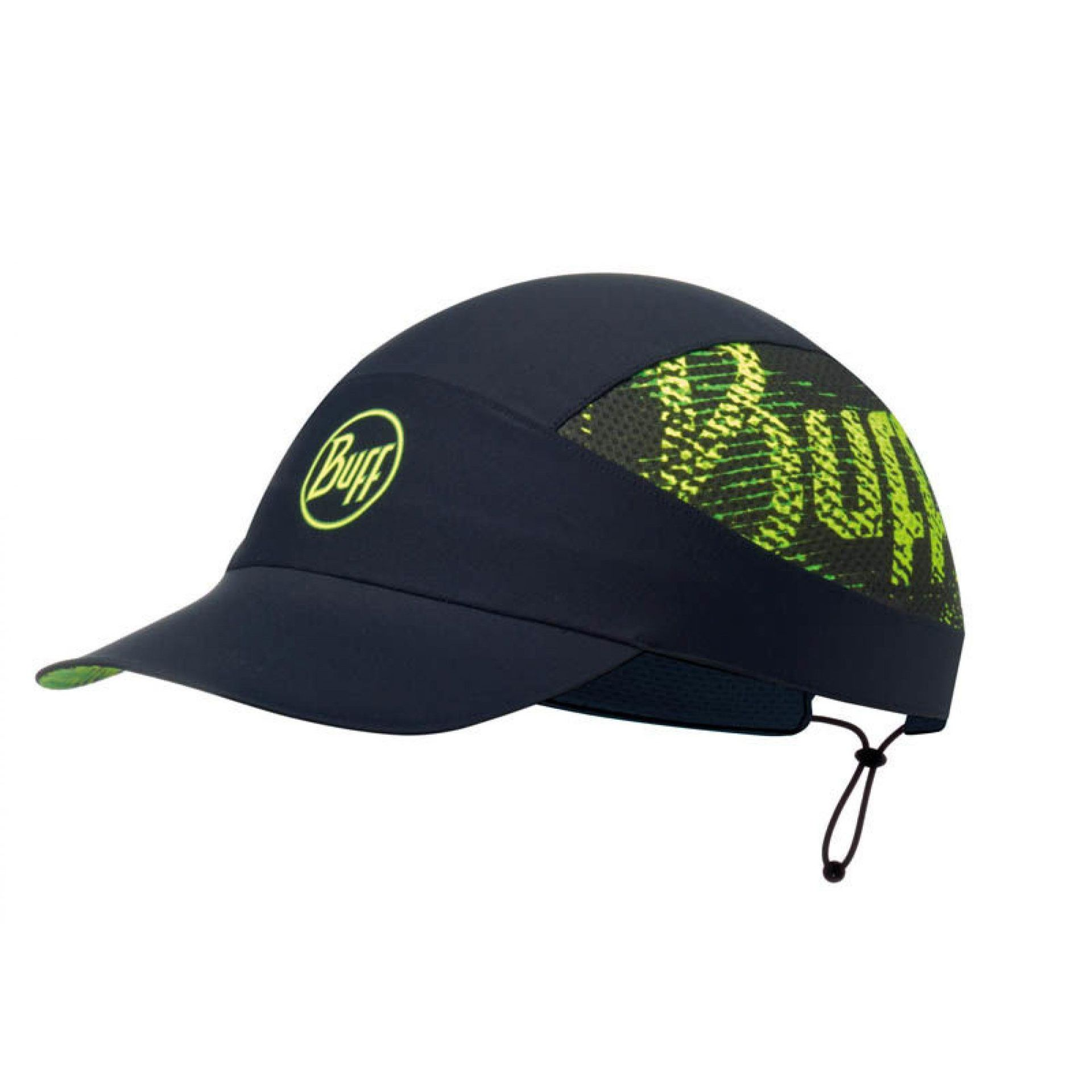 CZAPKA Z DASZKIEM BUFF PACK RUN CAP R-FLASH LOGO BLACK