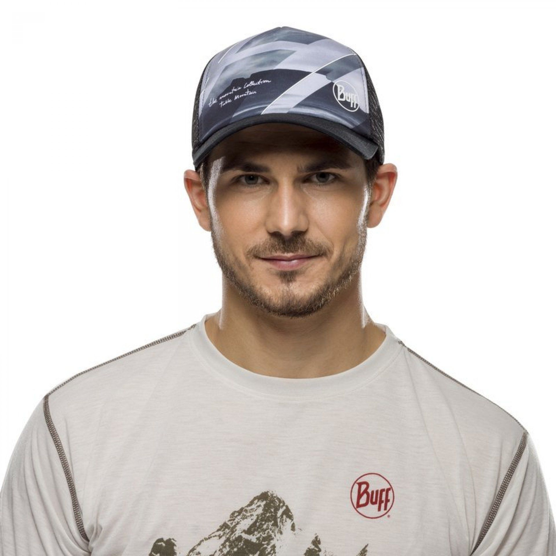 CZAPKA Z DASZKIEM BUFF TRUCKER CAP TABLE MOUNTAIN BLACK NA MODELU
