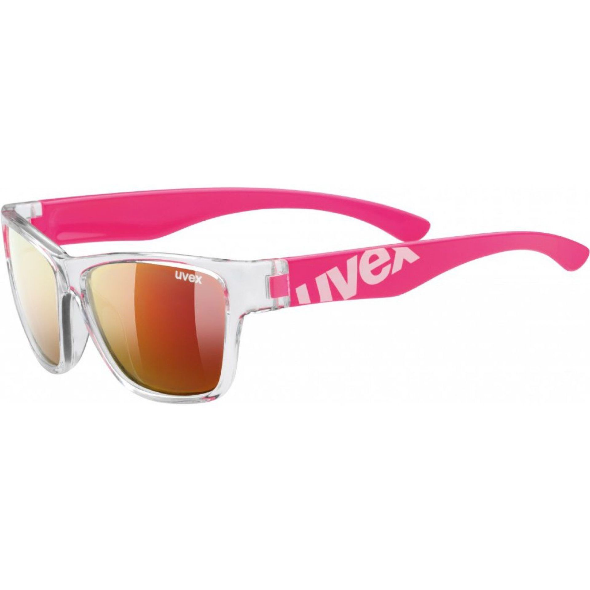 OKULARY UVEX SPORTSTYLE 508 CLEAR PINK|MIRROR RED