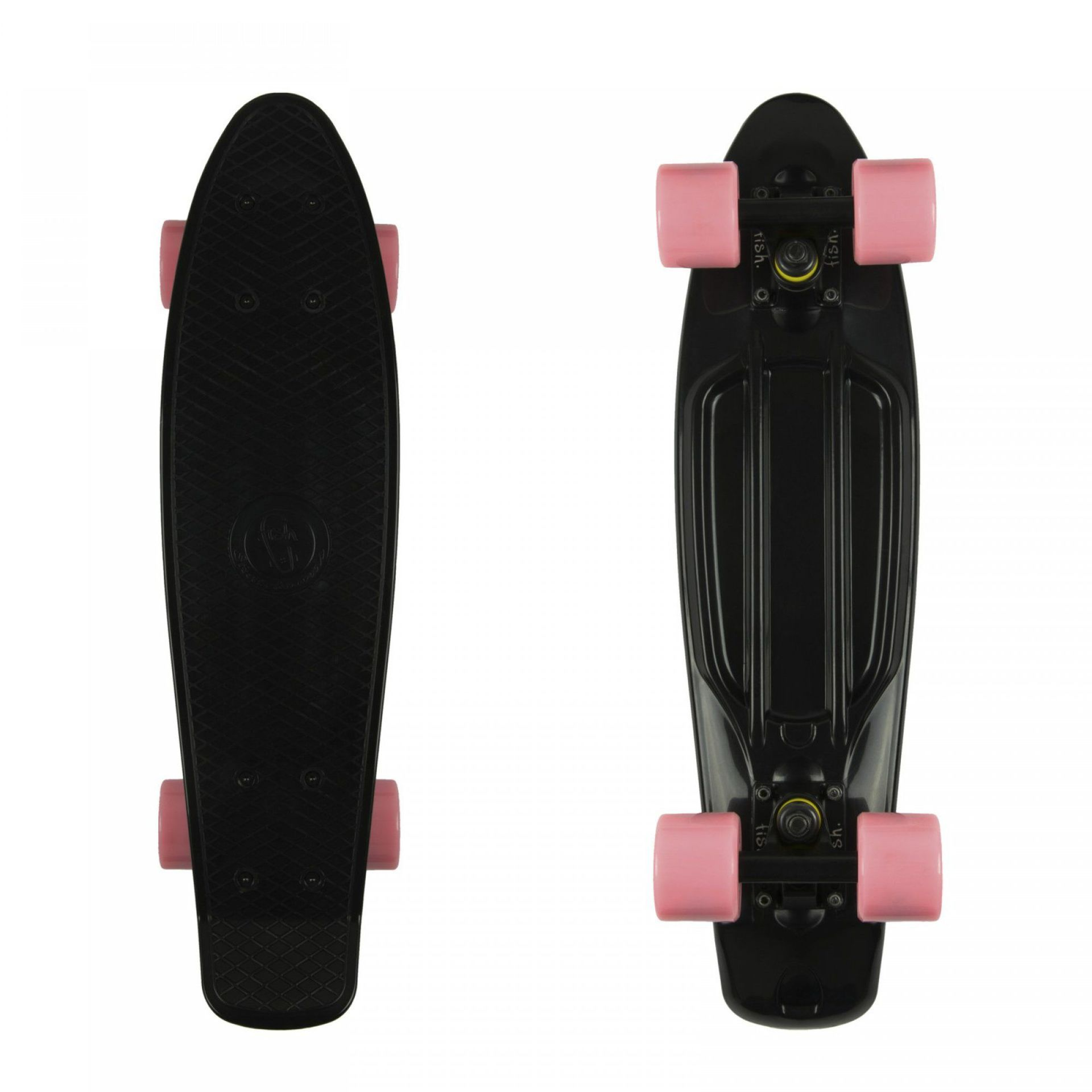 FISHBOARD FISH SKATEBOARDS CLASSIC BLACK|BLACK|SUMMER PINK 1