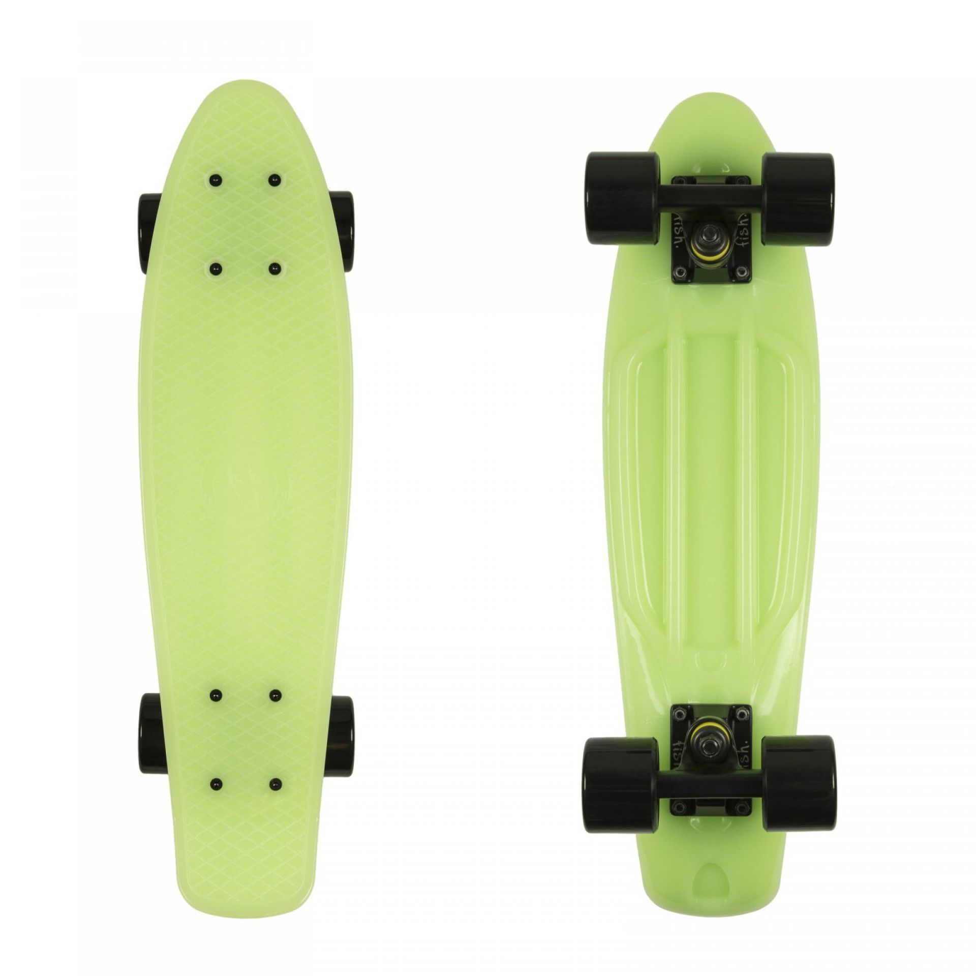 FISHBOARD FISH SKATEBOARDS CLASSIC GLOW GREEN|BLACK 1