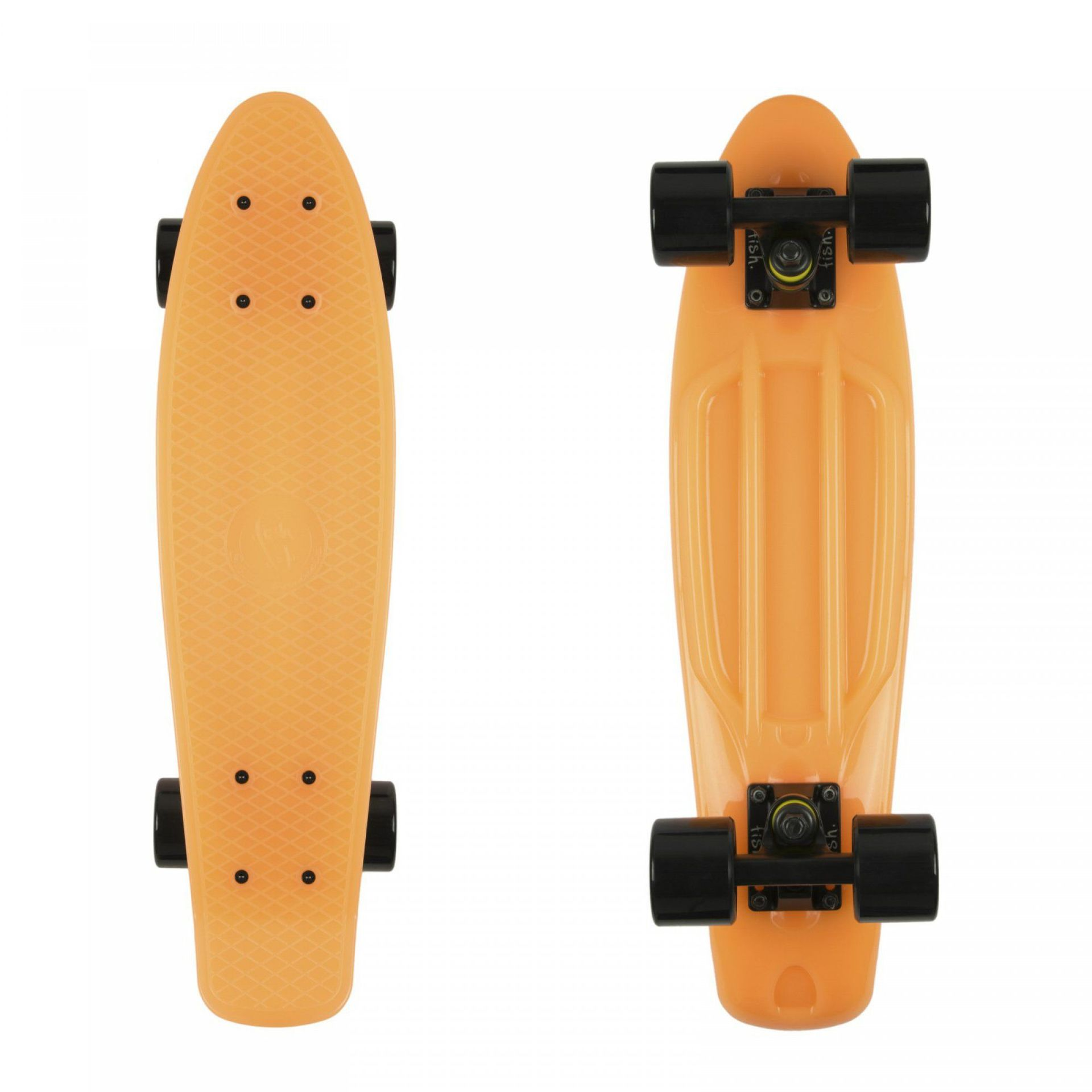 FISHBOARD FISH SKATEBOARDS CLASSIC GLOW ORANGE|BLACK 1