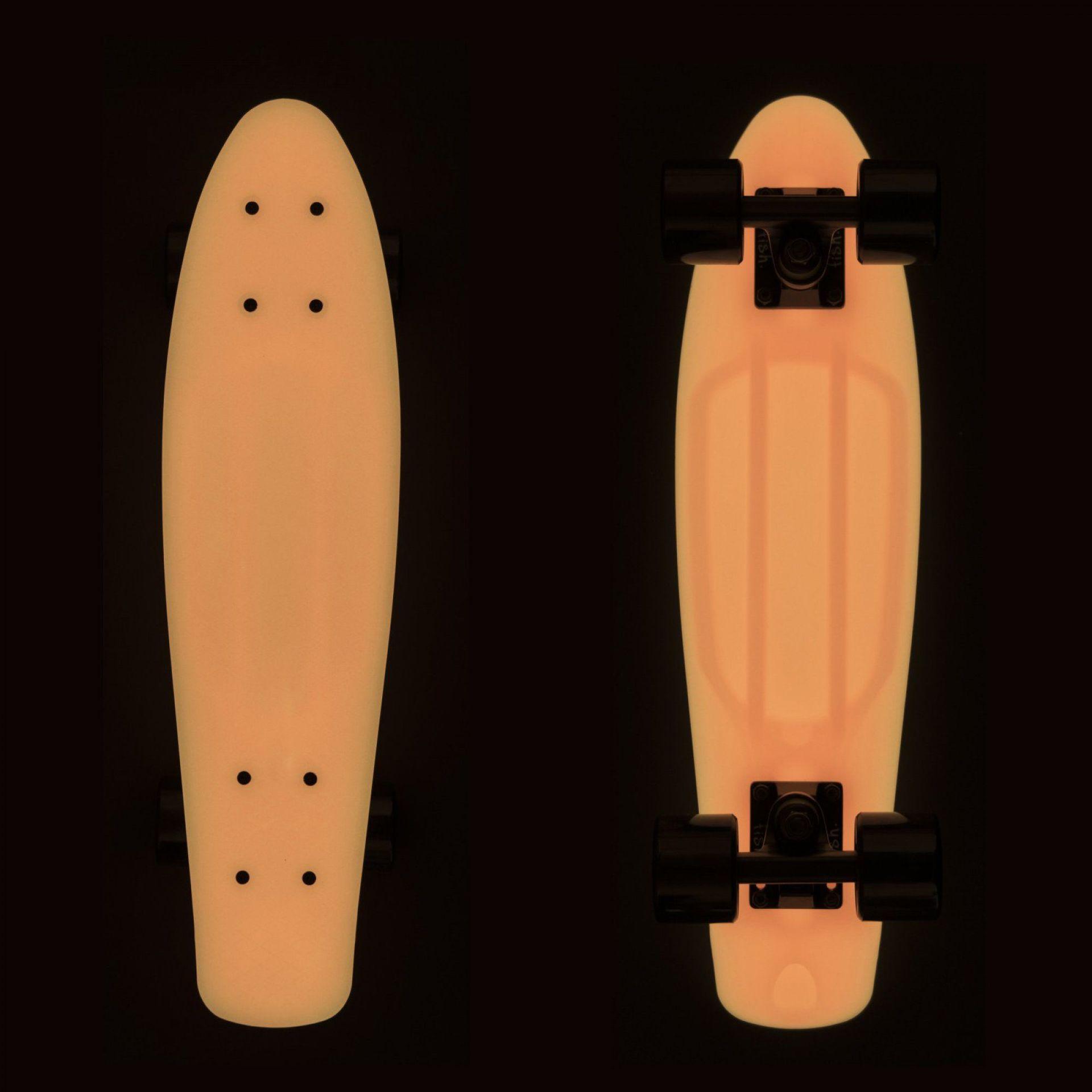 FISHBOARD FISH SKATEBOARDS CLASSIC GLOW ORANGE BLACK 3