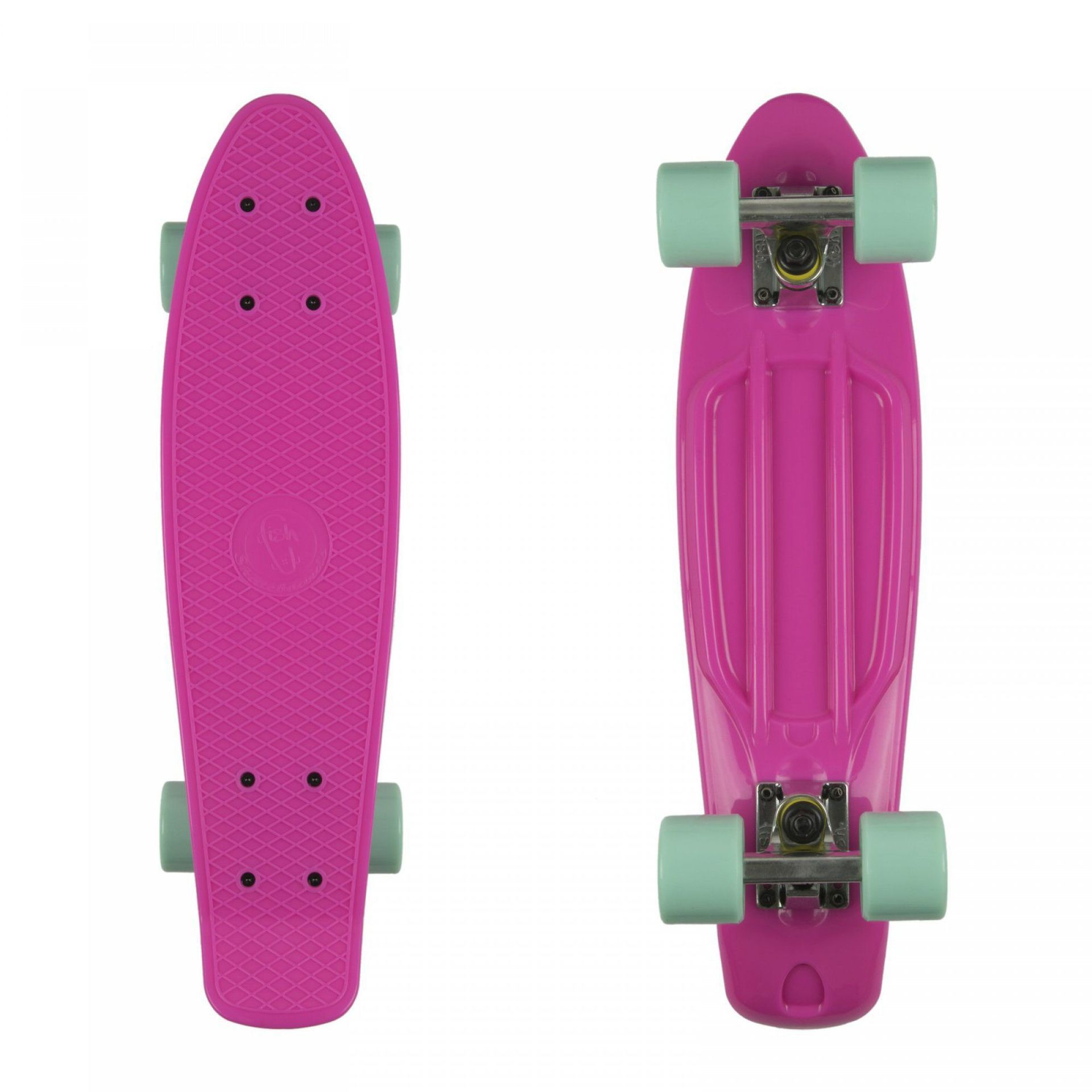 FISHBOARD FISH SKATEBOARDS CLASSIC MAGENTA|SILVER|SUMMER GREEN 1
