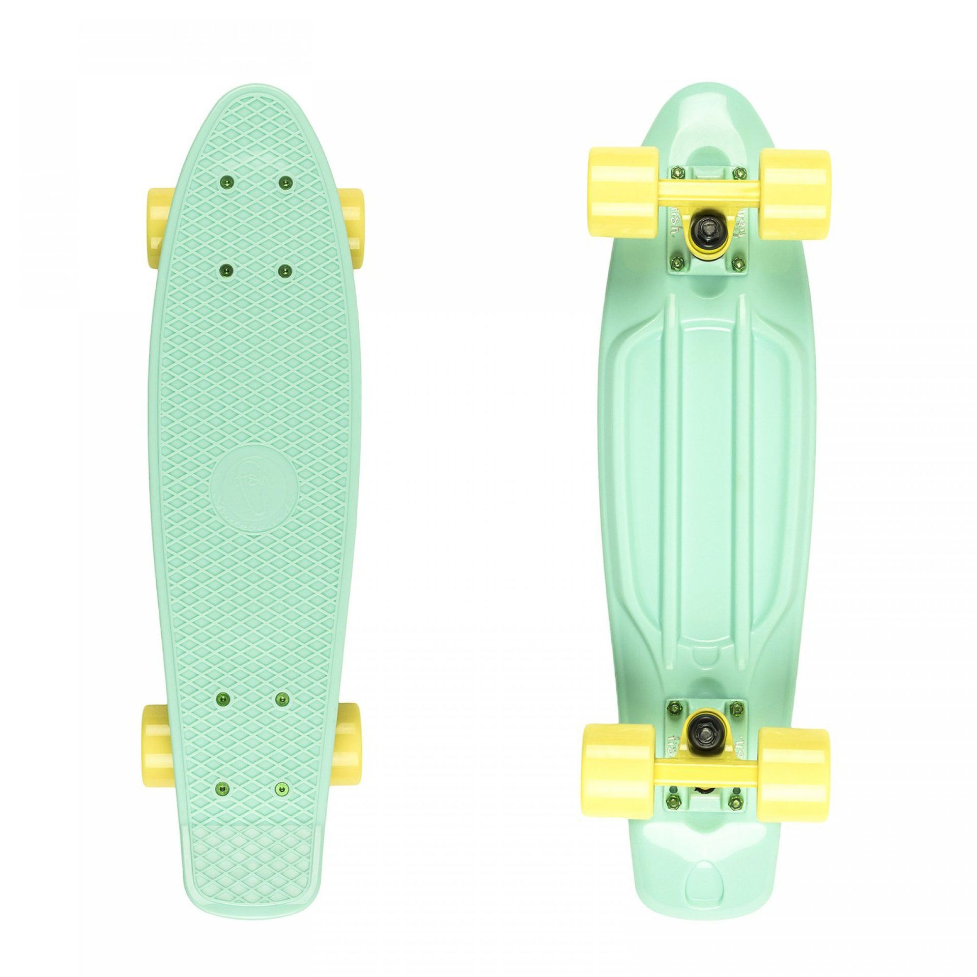FISHBOARD FISH SKATEBOARDS CLASSIC SUMMER GREEN|2C|SUMMER YELLOW 1