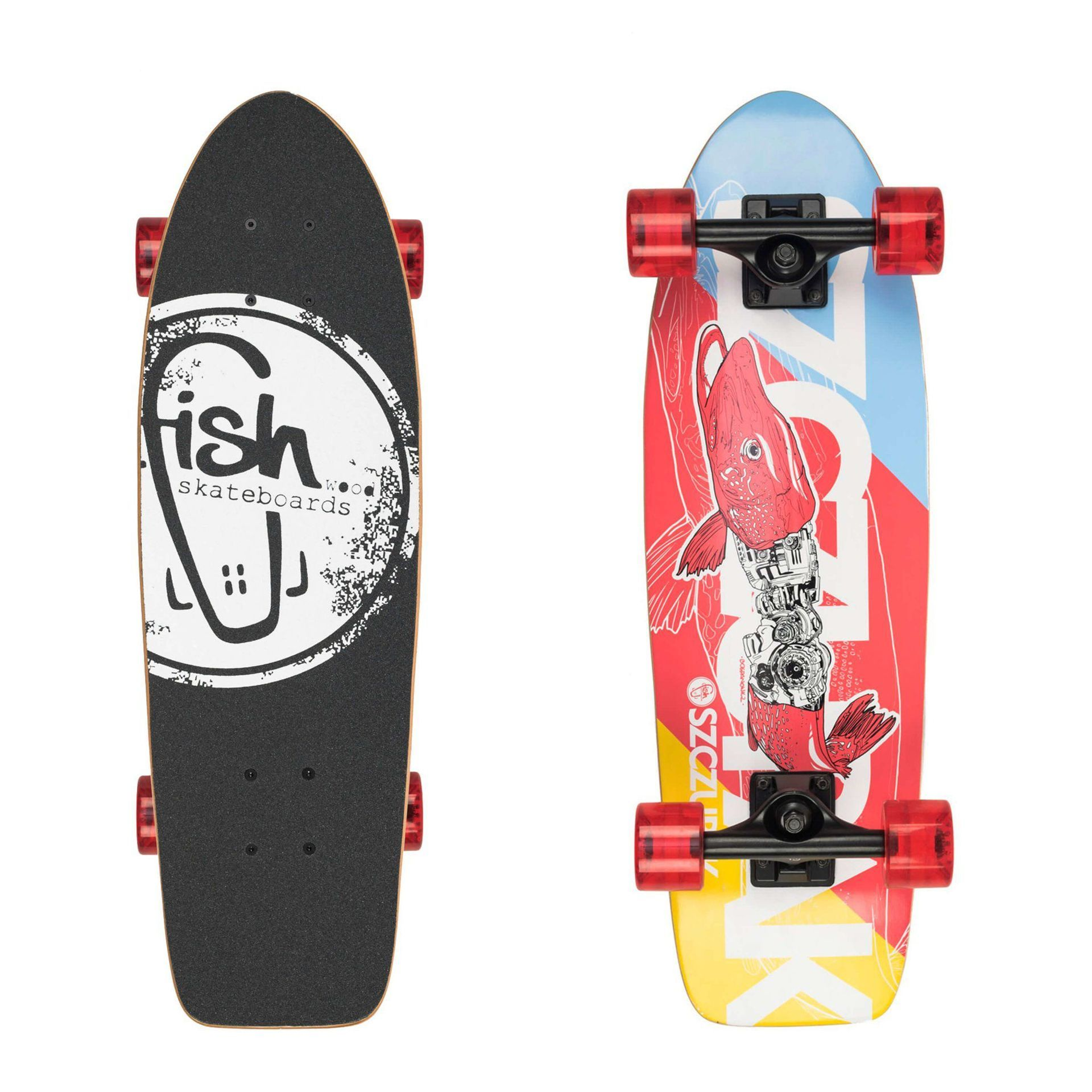 FISHBOARD FISH SKATEBOARDS CRUISER 26 SZCZUPAK|BLACK|TRANSPARENT RED 1