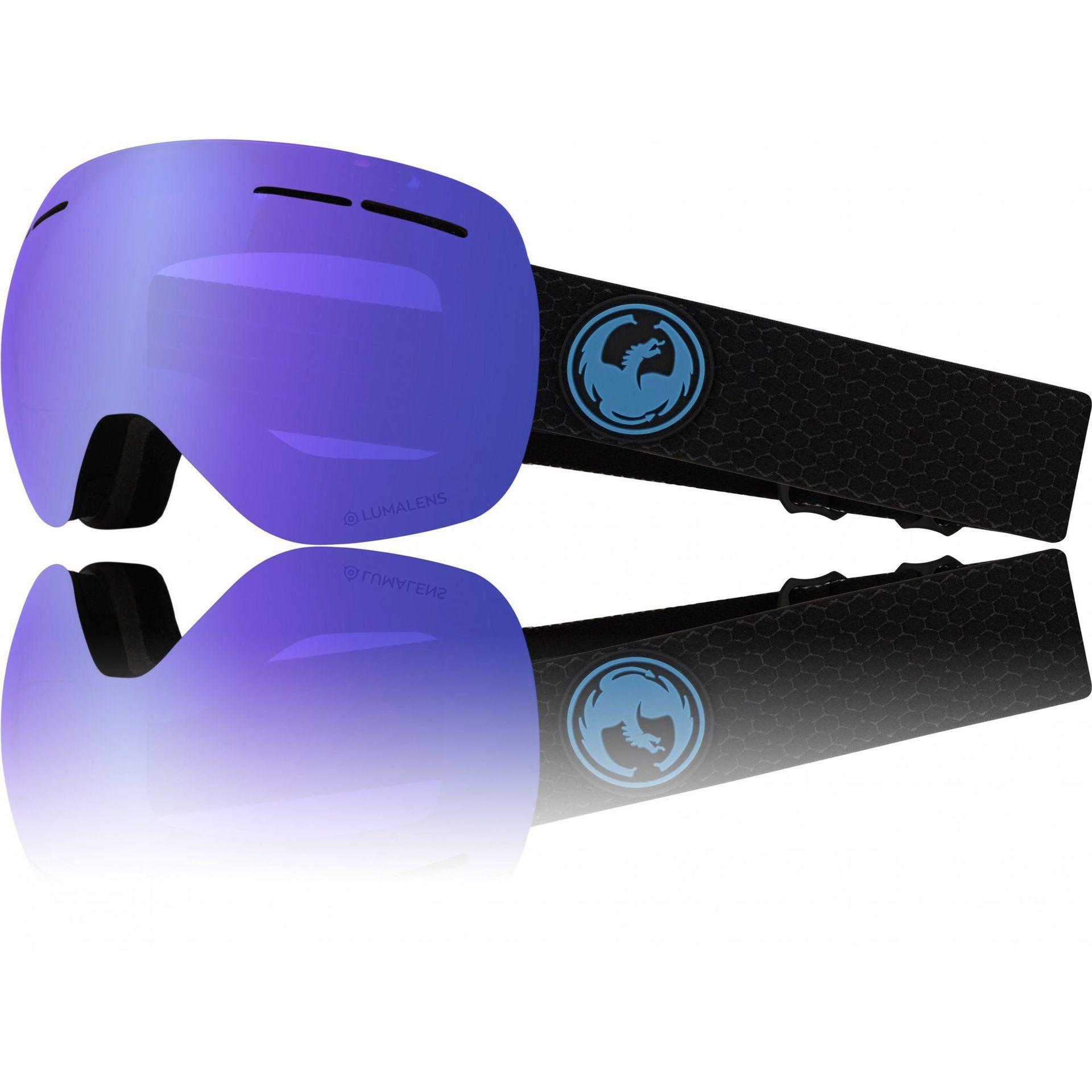 GOGLE DRAGON X1S SPLIT BLUE ION