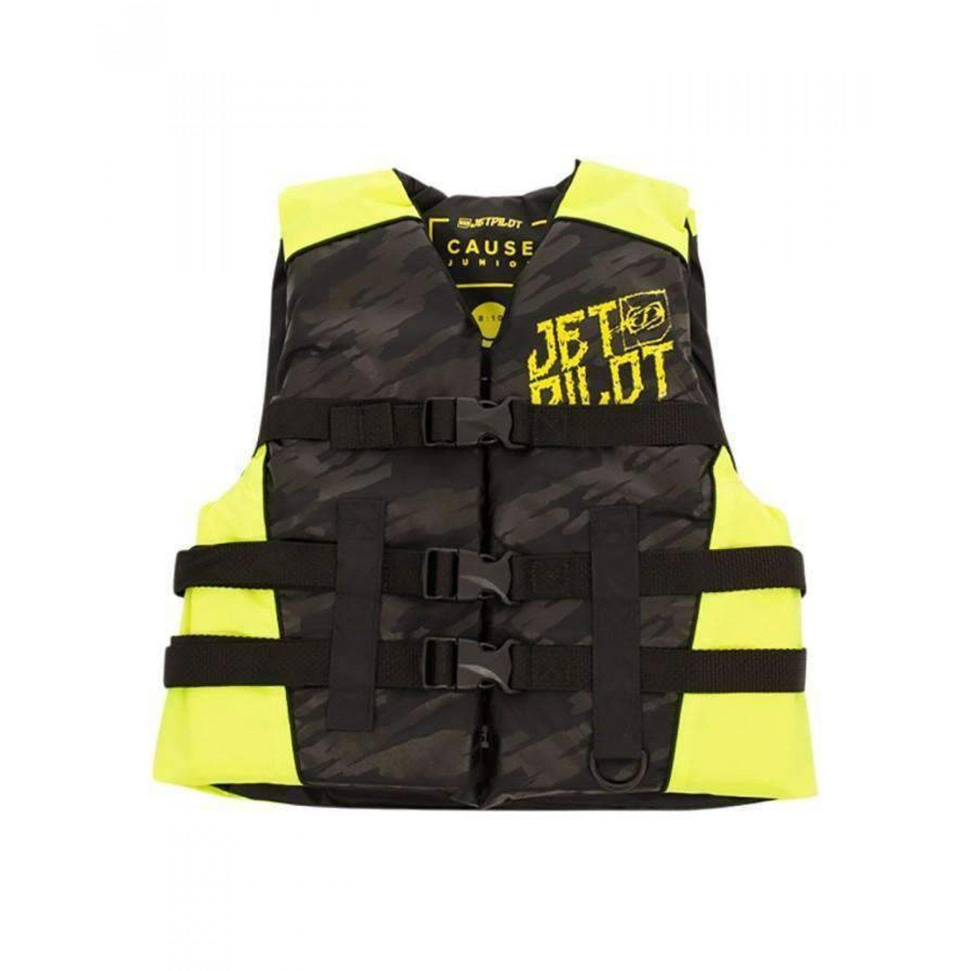 KAMIZELKA JET PILOT CAUSE YOUTH|TEEN NYLON 50N BLACK|YELLOW 19084 1