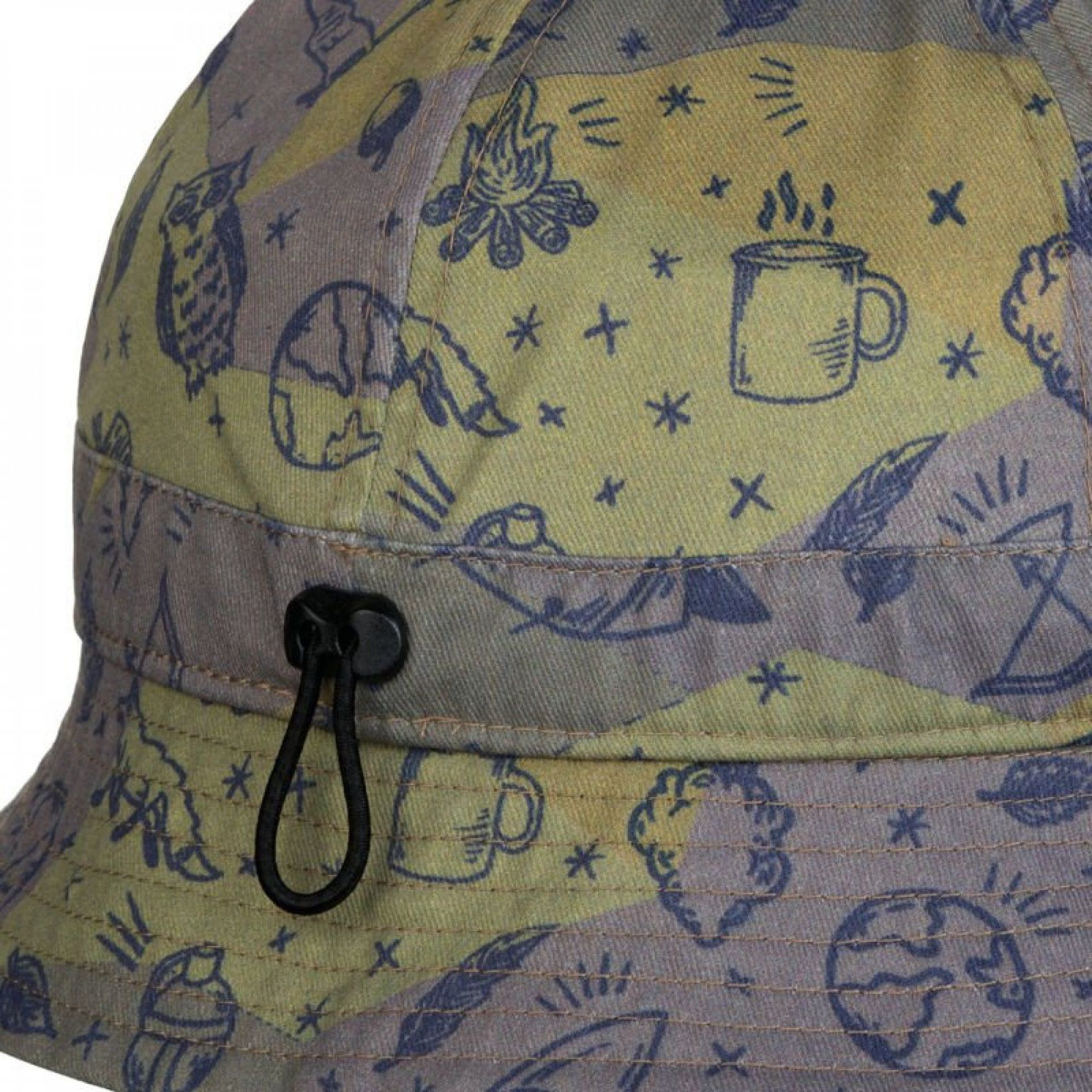 KAPELUSZ BUFF BUCKET HAT KIDS CAMP KHAKI 1