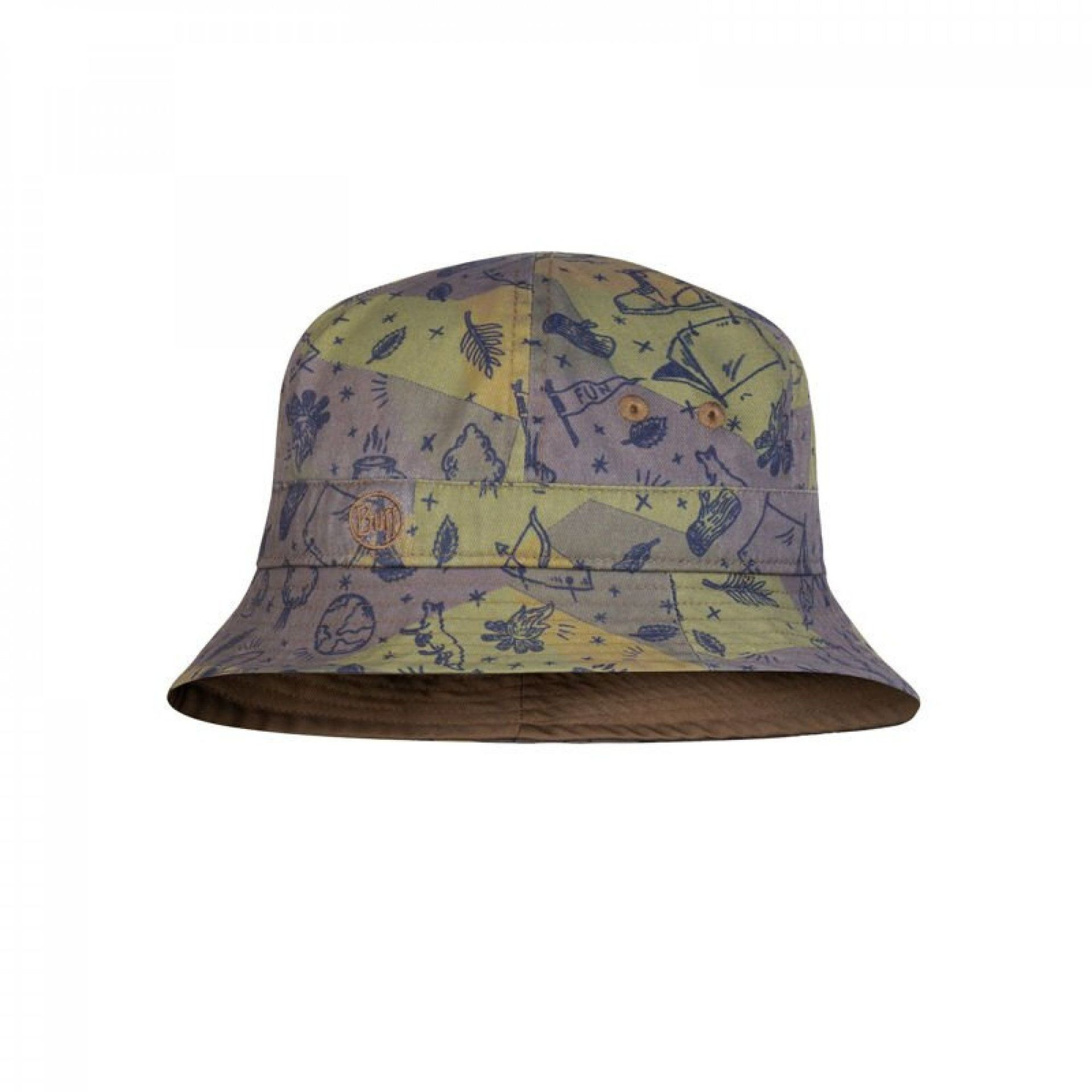 KAPELUSZ BUFF BUCKET HAT KIDS CAMP KHAKI