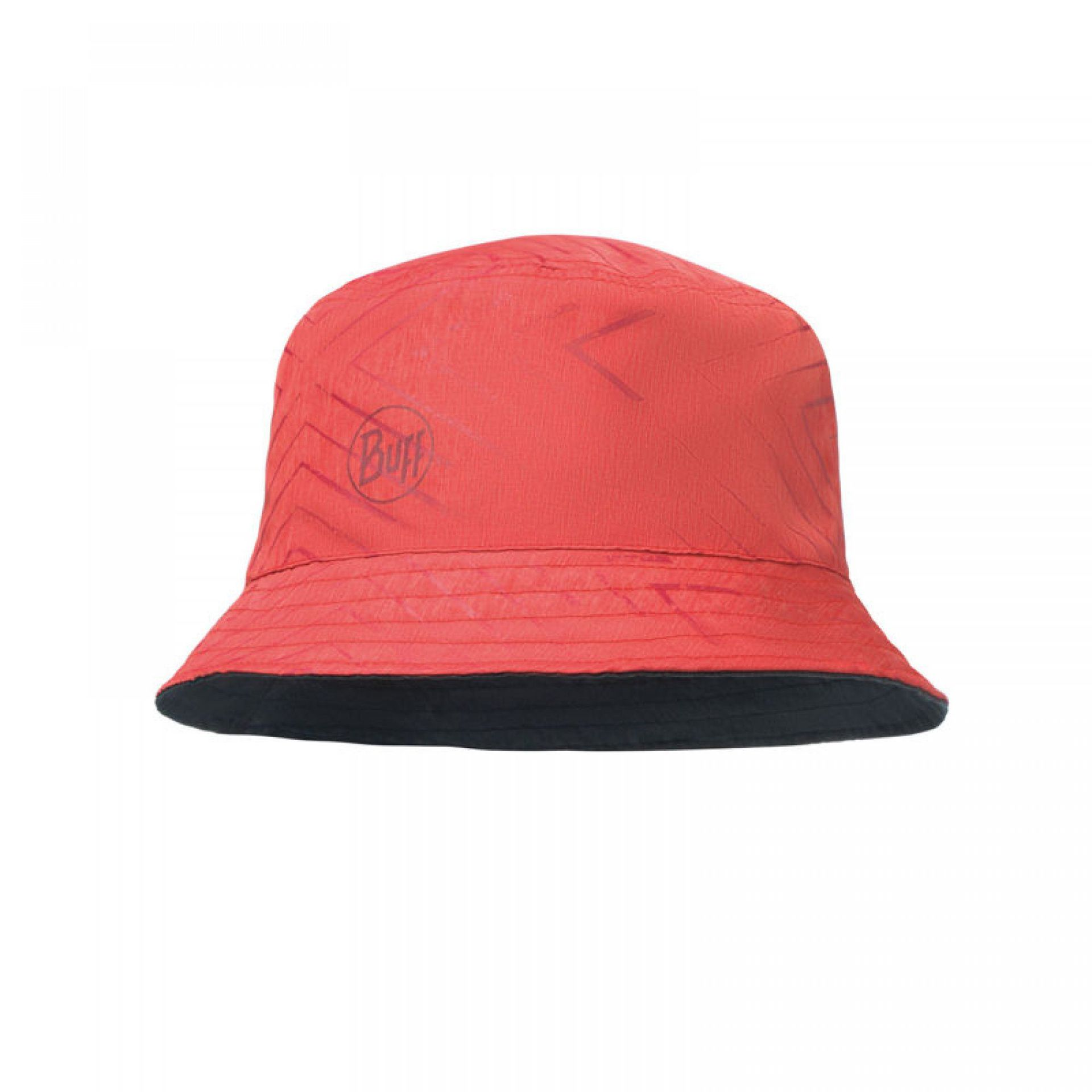 KAPELUSZ BUFF TRAVEL BUCKET HAT COLLAGE RED
