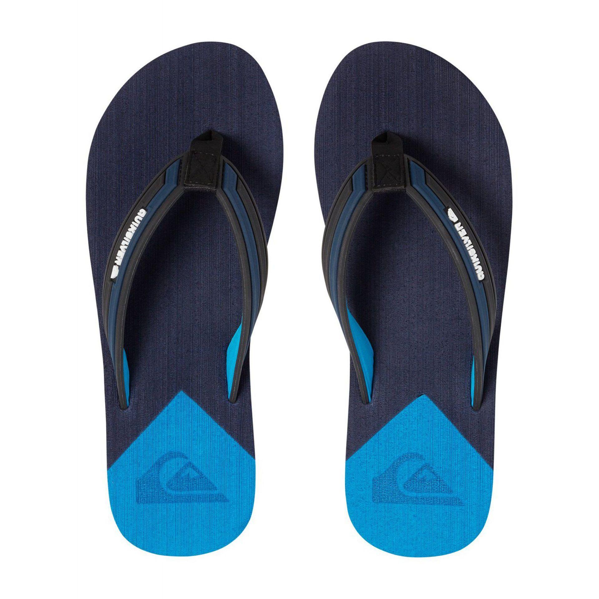 KLAPKI QUIKSILVER MOLOKAI DELUXE BLACK BLUE BLUE 2
