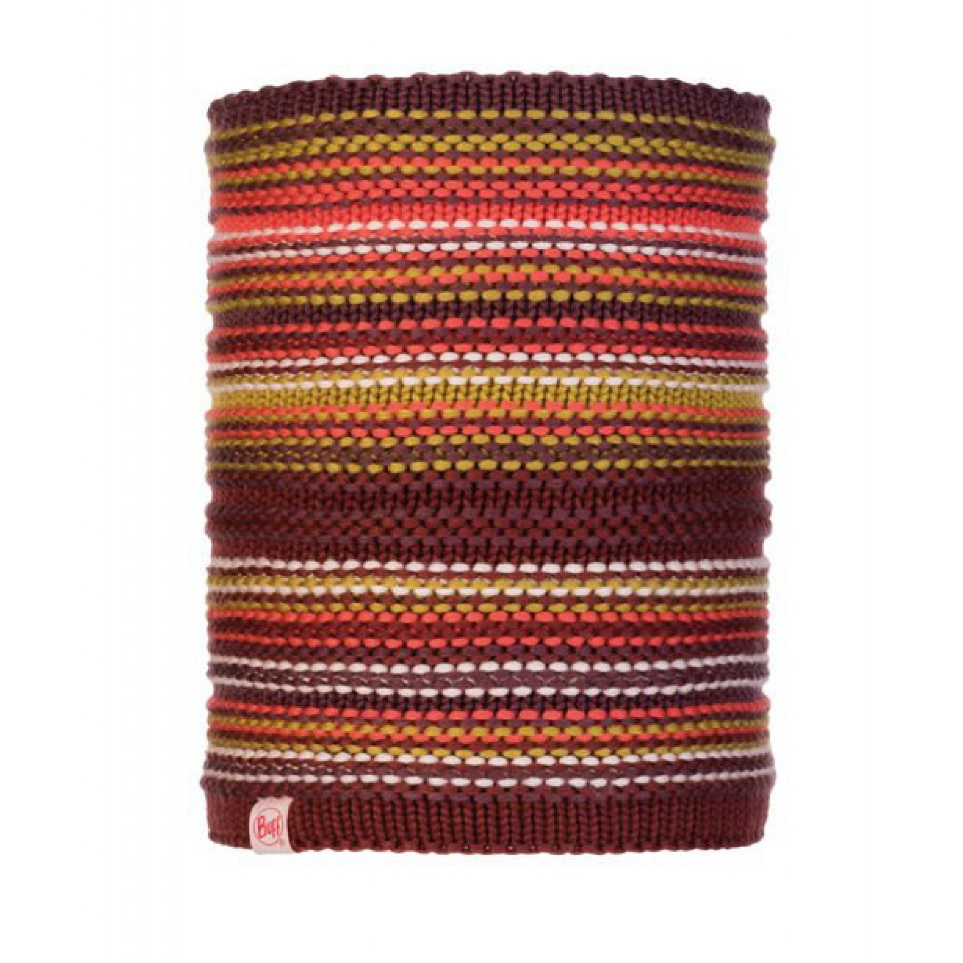 KOMIN BUFF JUNIOR KNITTED AND FLEECE NECKWARMER AMITY MAROON