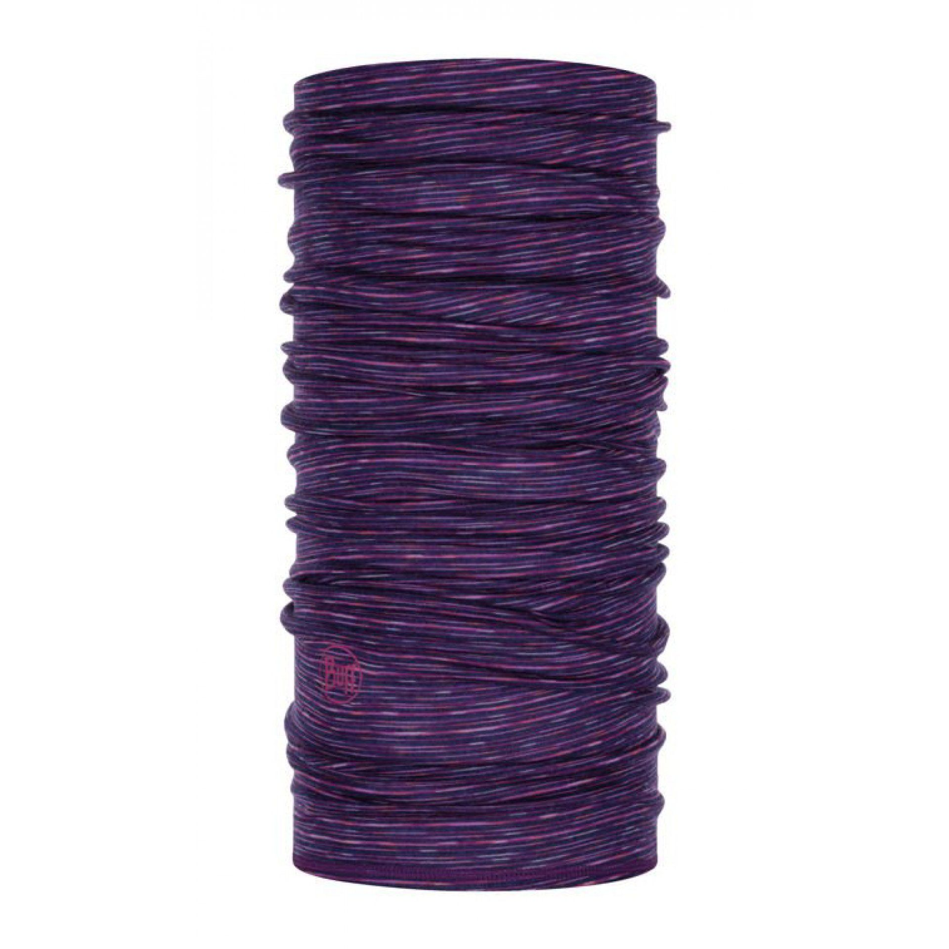 KOMIN BUFF MERINO WOOL LIGHTWEIGHT PURPLE MULTI STRIPES