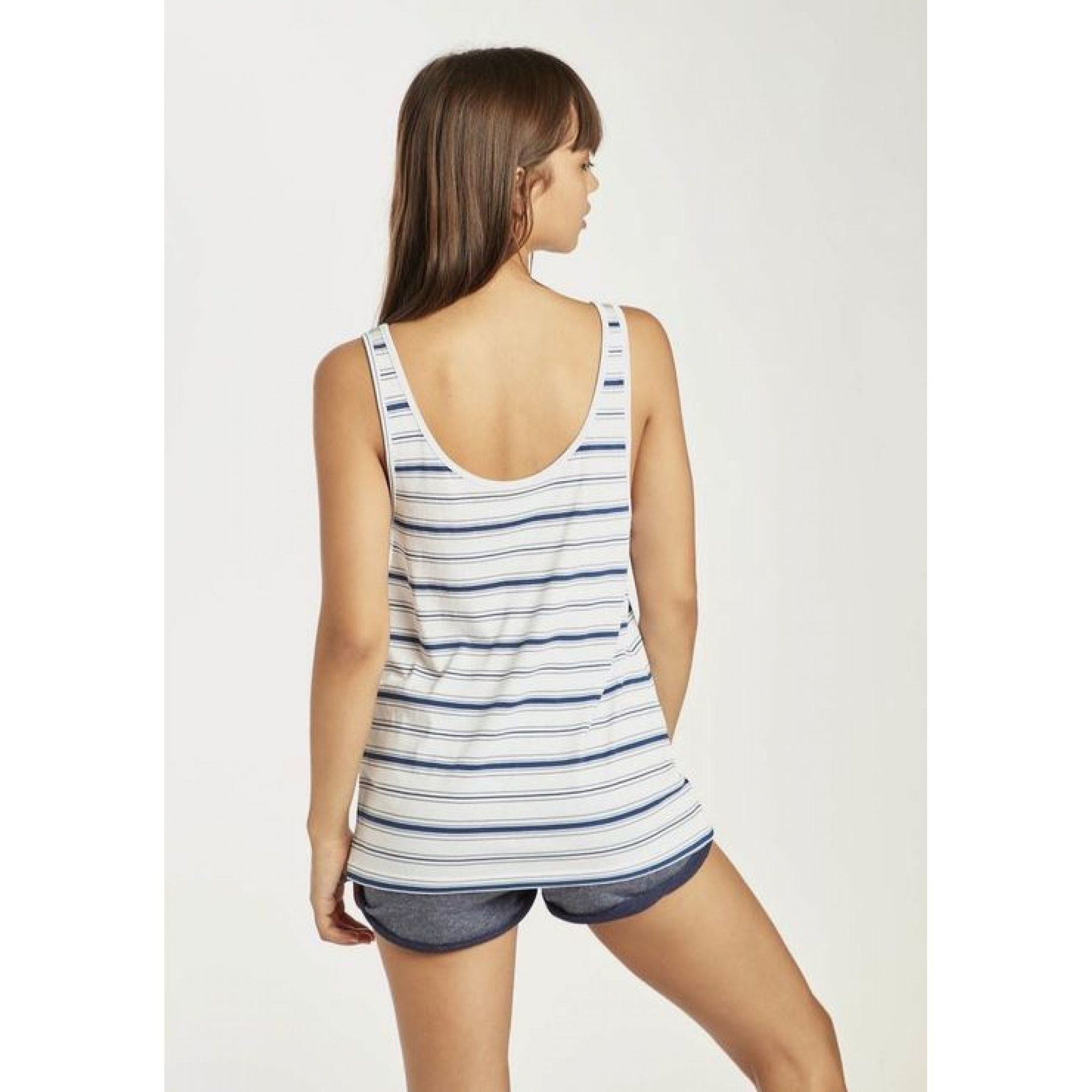 KOSZULKA BILLABONG BEACH DAY TANK BLUE STRIPES 2
