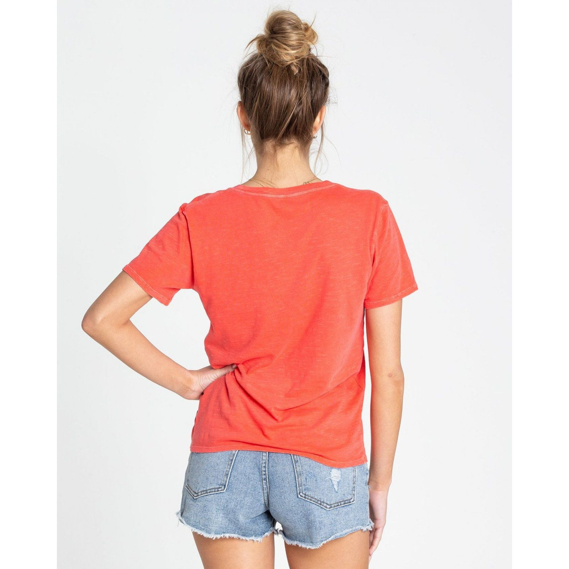 KOSZULKA BILLABONG SUN YOUR BUNS SUNSET RED 3