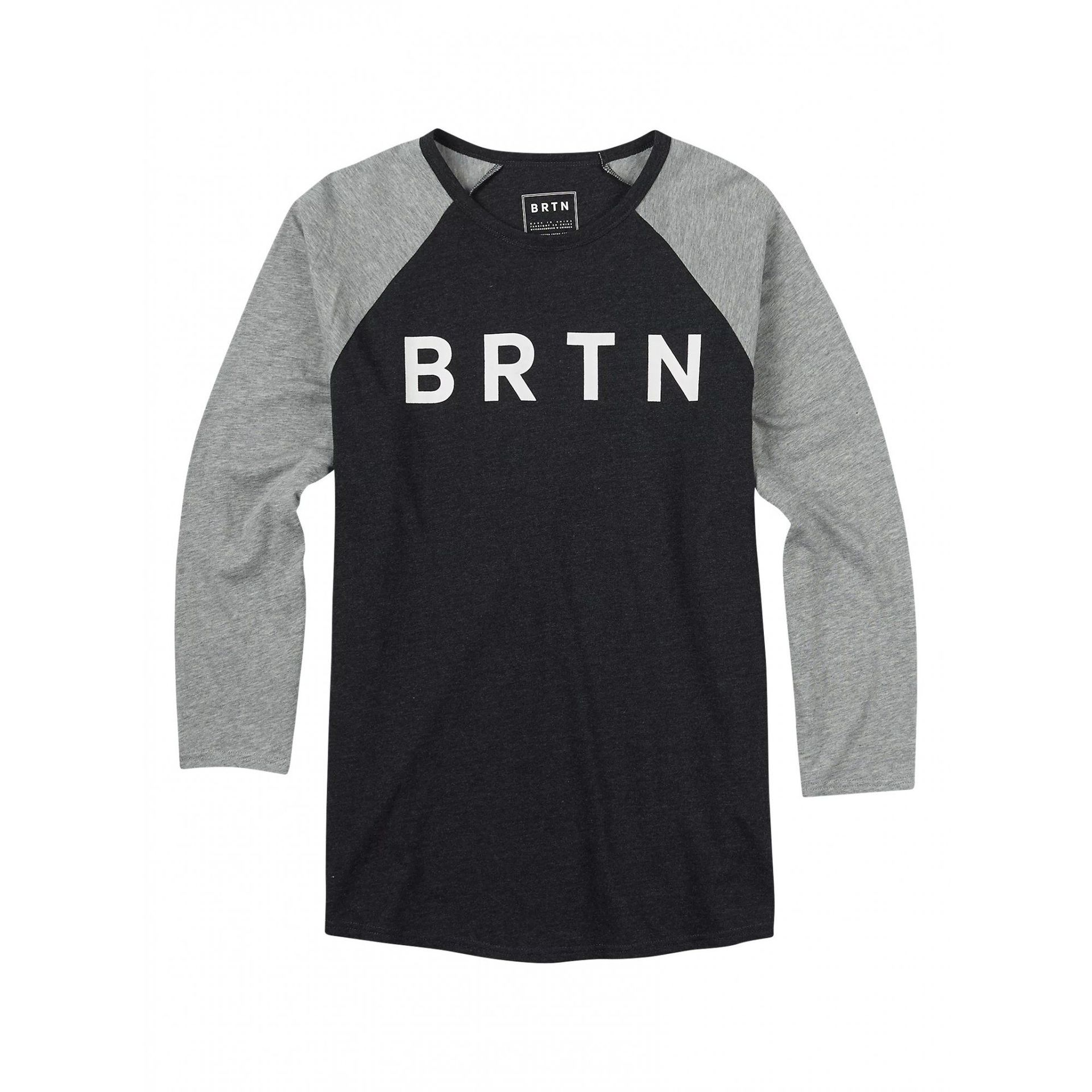 KOSZULKA BURTON RAGLAN TRUE BLACK HEATHER