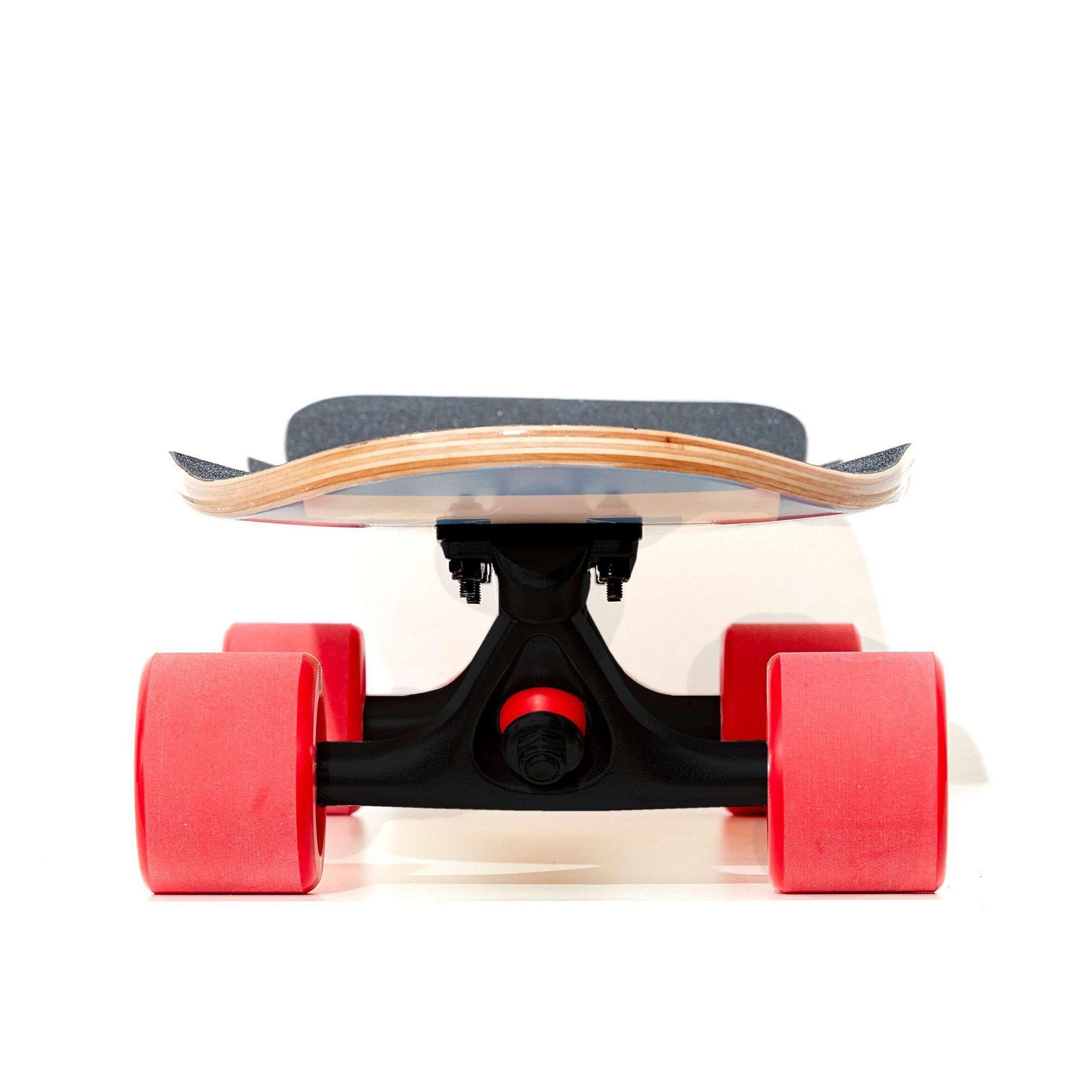 LONGBOARD FISH SKATEBOARDS CRUISER 32 FLOUNDER|BLACK|RED 2