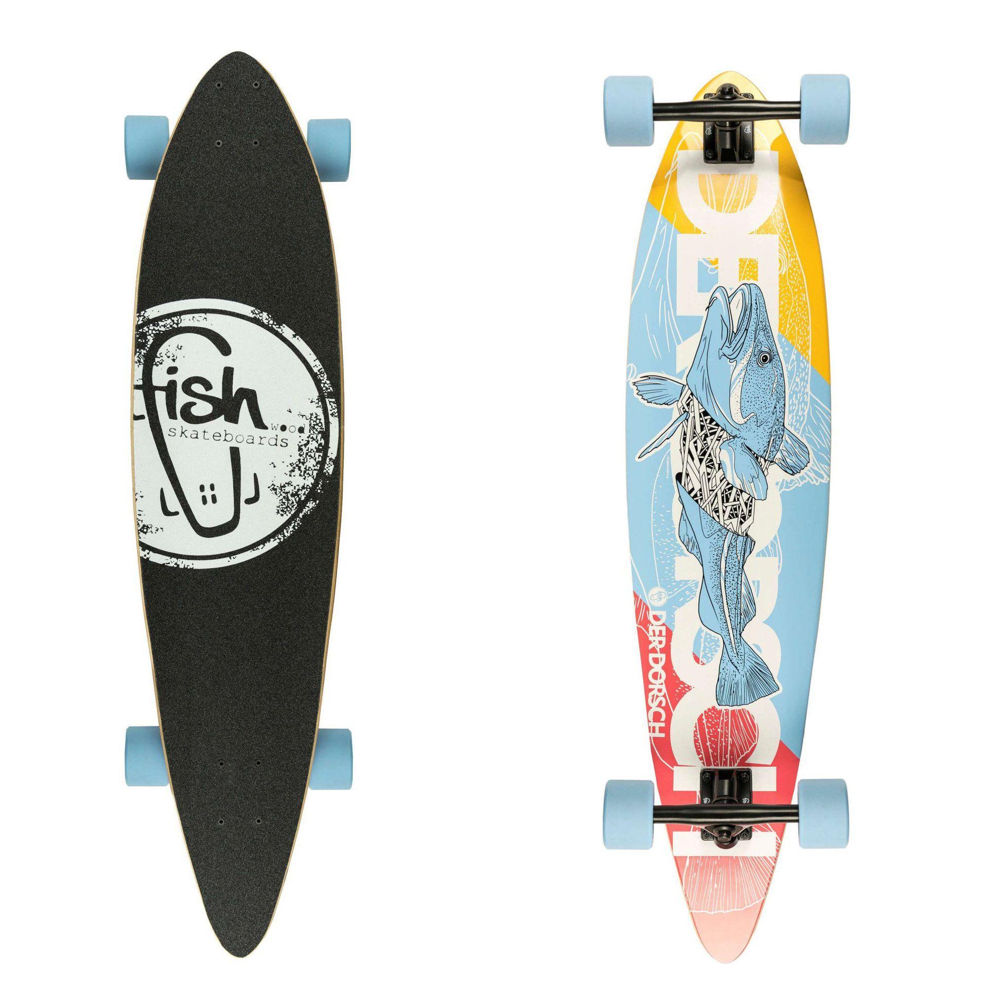 LONGBOARD FISH SKATEBOARDS LONGBOARD 40 DERDORSCH|BLACK|SUMMER BLUE 1