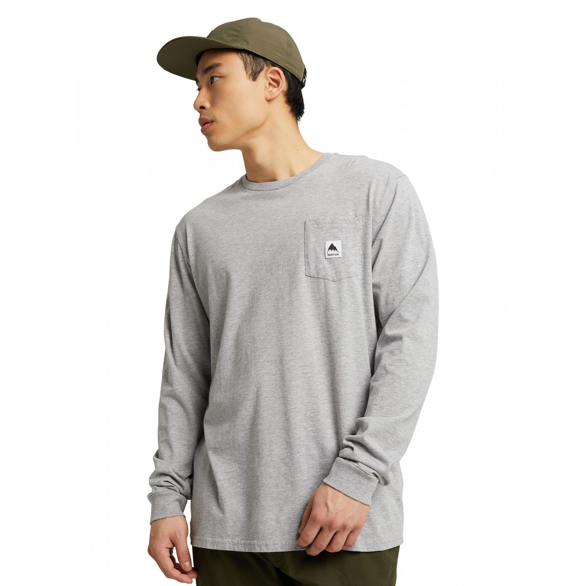 LONGSLEEVE BURTON COLFAX GRAY HEATHER