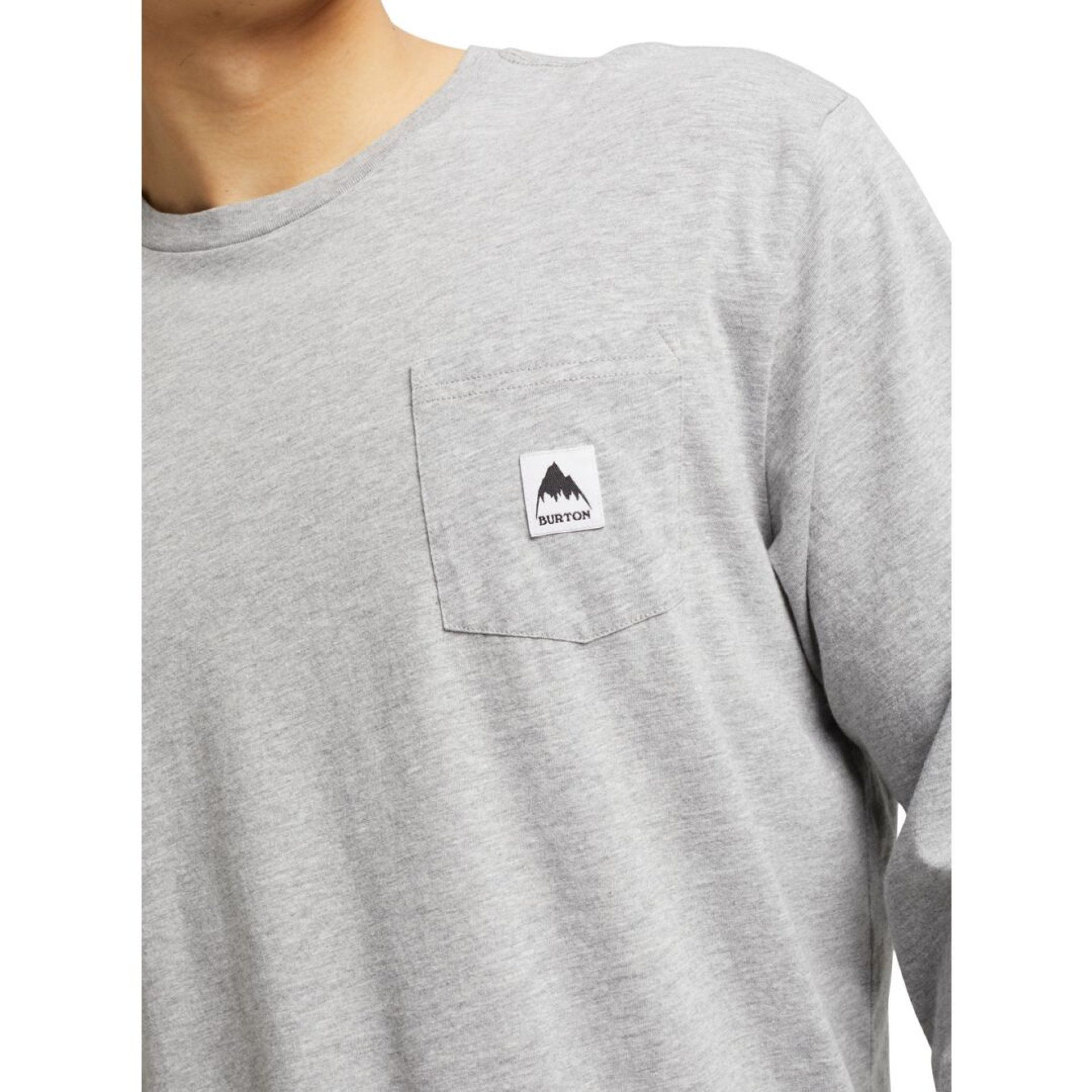 LONGSLEEVE BURTON COLFAX GRAY HEATHER DETALE