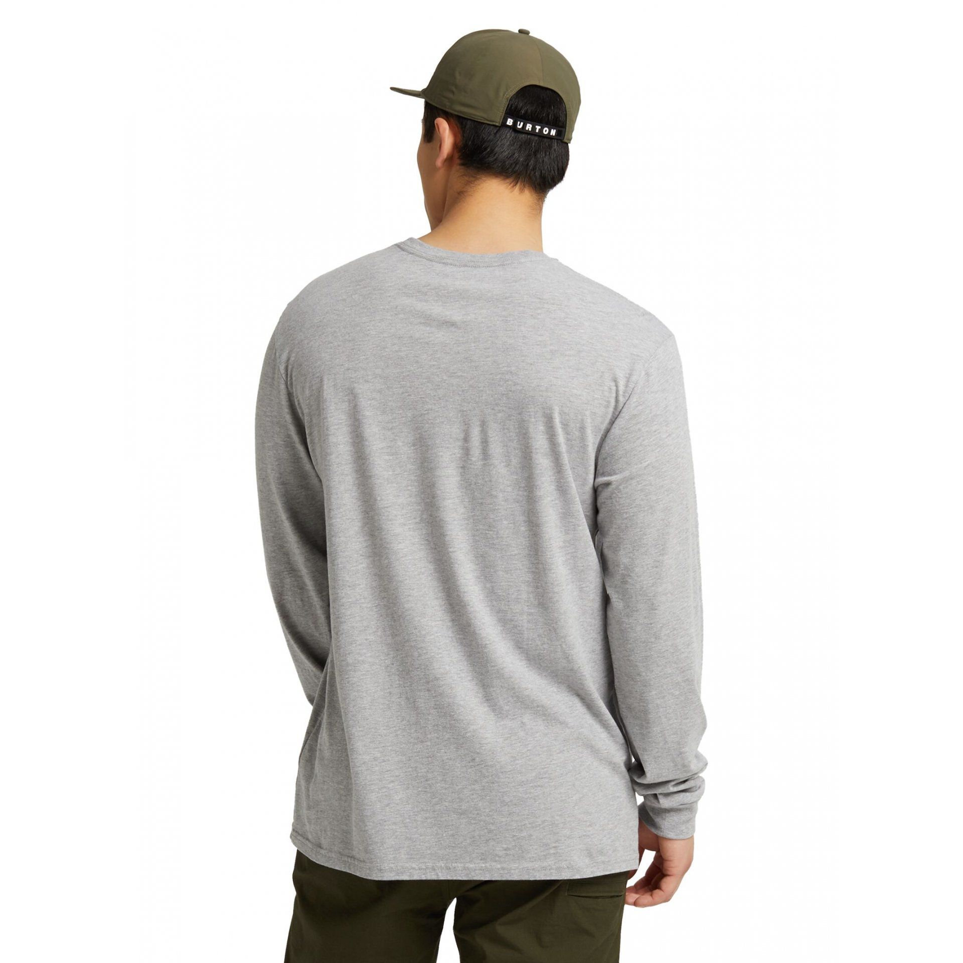 LONGSLEEVE BURTON COLFAX GRAY HEATHER TYŁ