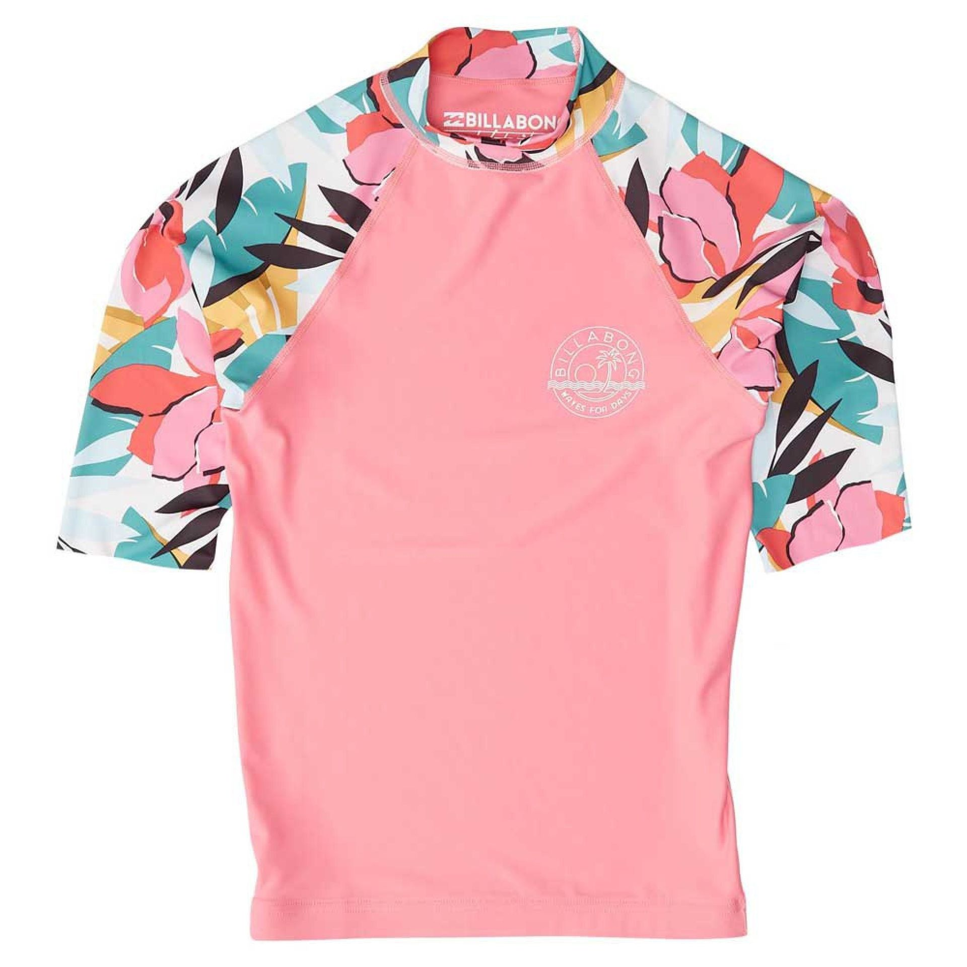 LYCRA BILLABONG FLOWER SS TEENS TAHITI PINK