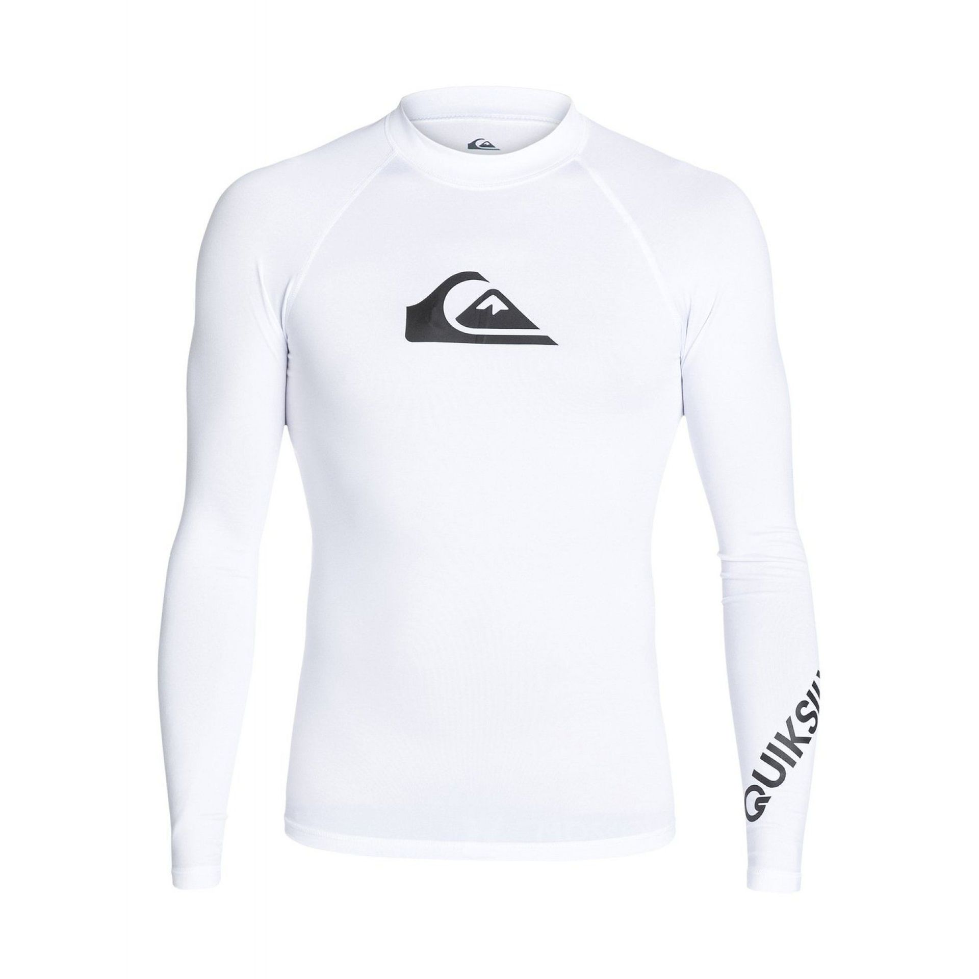 LYCRA QUIKSILVER ALL TIME LS RASH TANK WHITE
