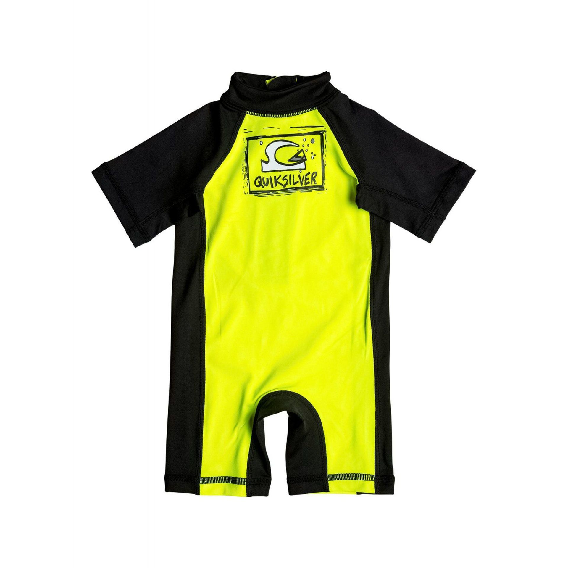 LYCRA QUIKSILVER BABY BUBBLE SPRINGSUIT SAFETY YELLOW
