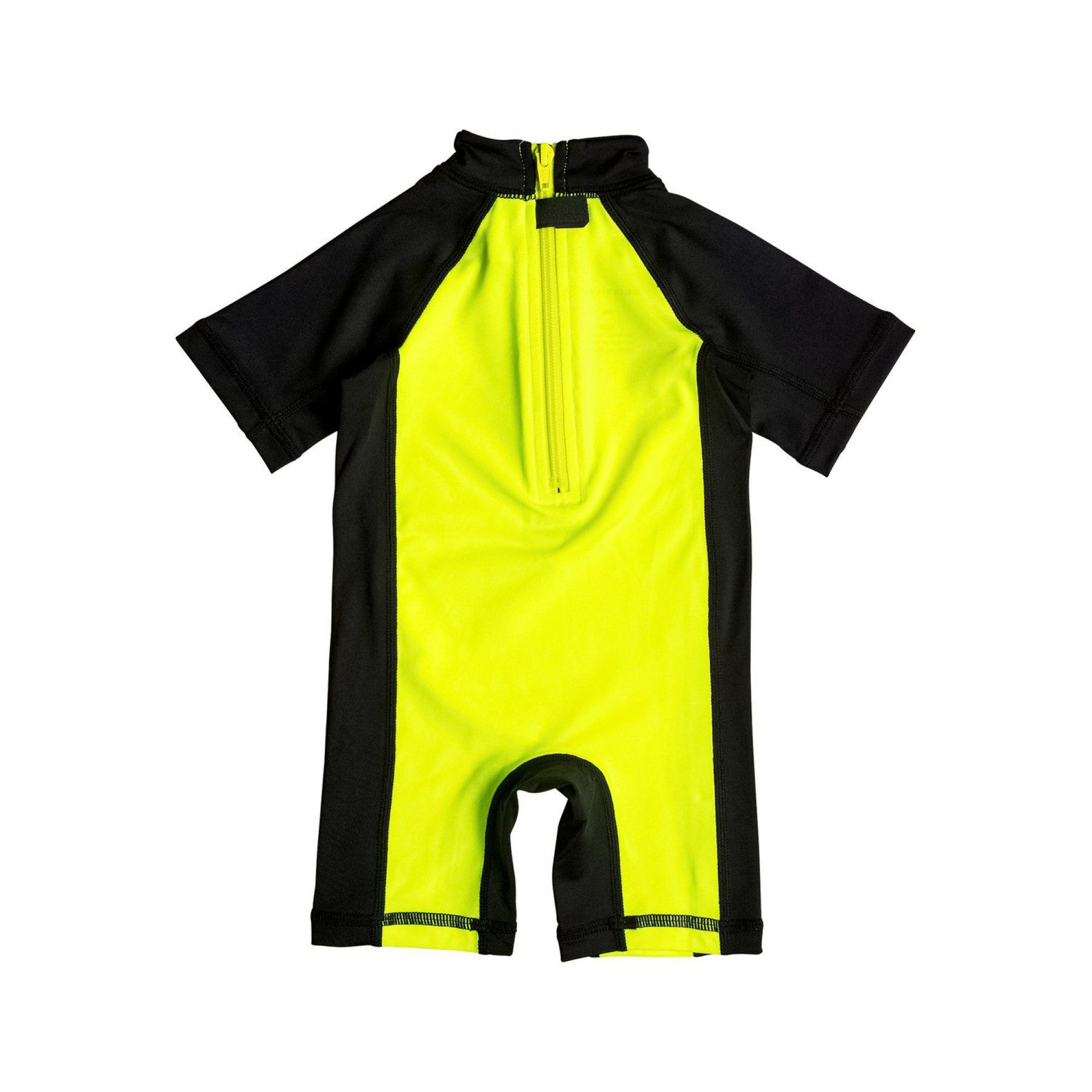LYCRA QUIKSILVER BABY BUBBLE SPRINGSUIT SAFETY YELLOW.